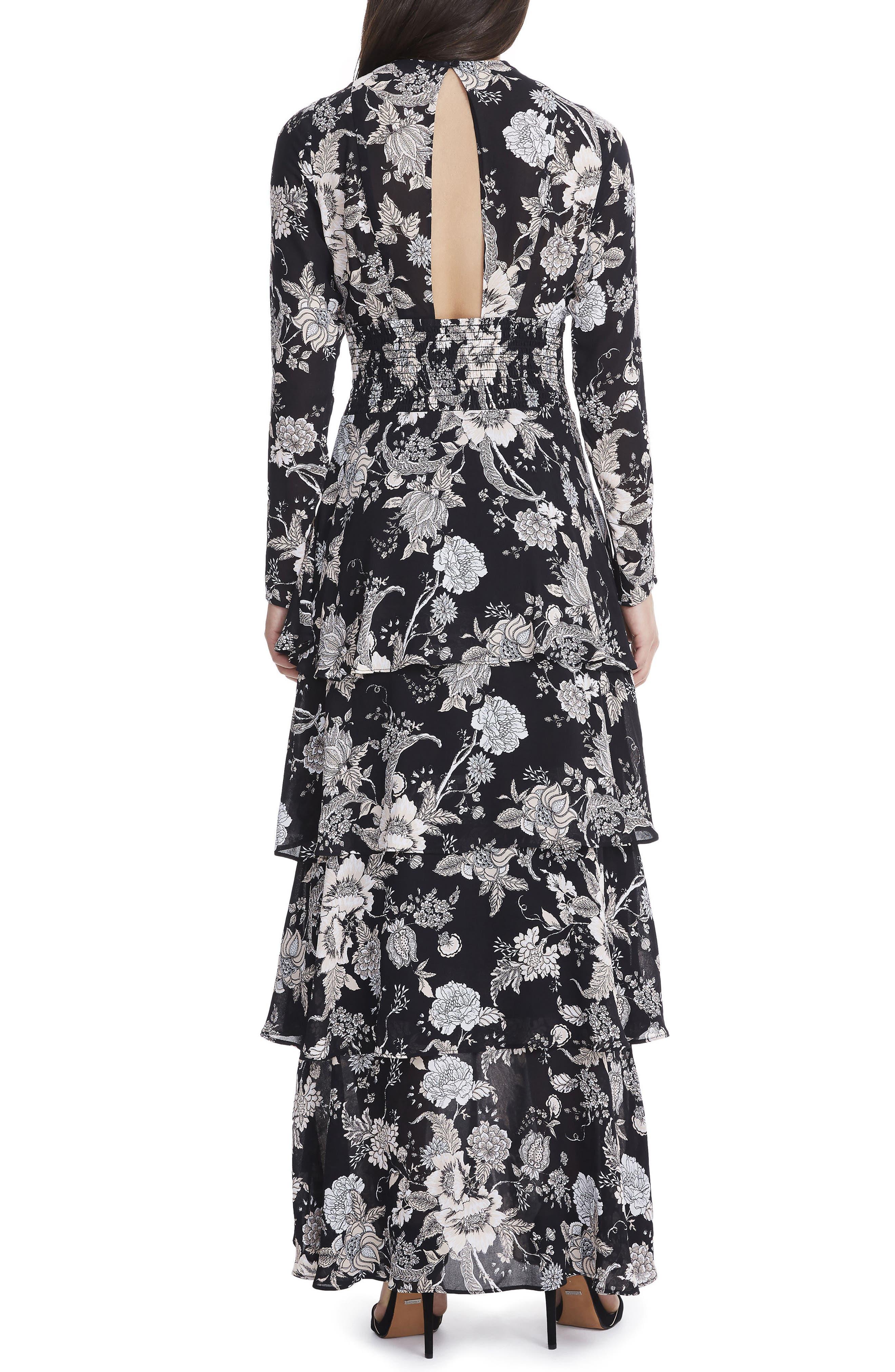 Amabella Tiered Maxi Dress,                             Alternate thumbnail 2, color,                             001