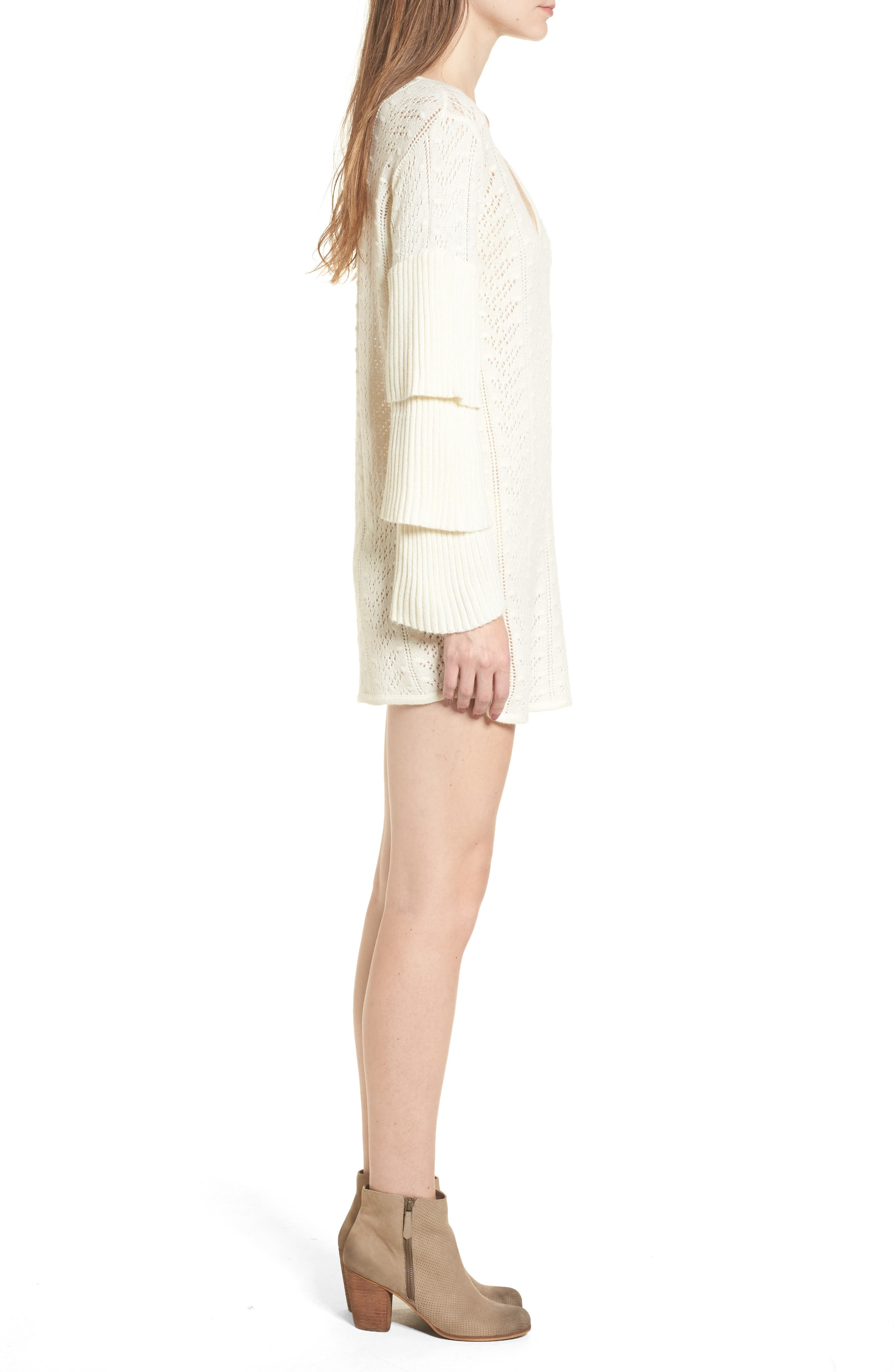Scout Knit Ruffle Sleeve Dress,                             Alternate thumbnail 3, color,