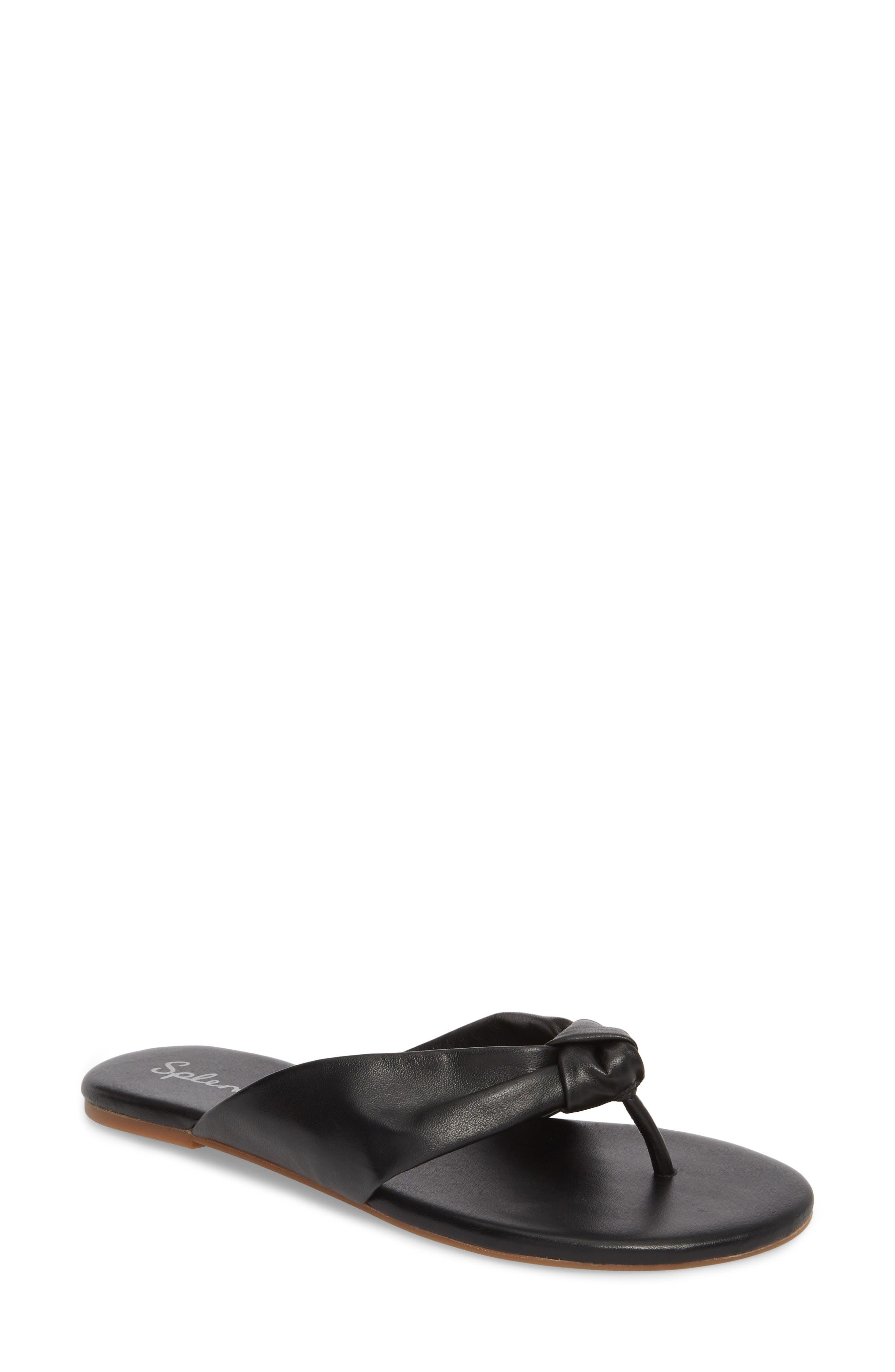 Bridgette Knotted Flip Flop,                         Main,                         color, 002