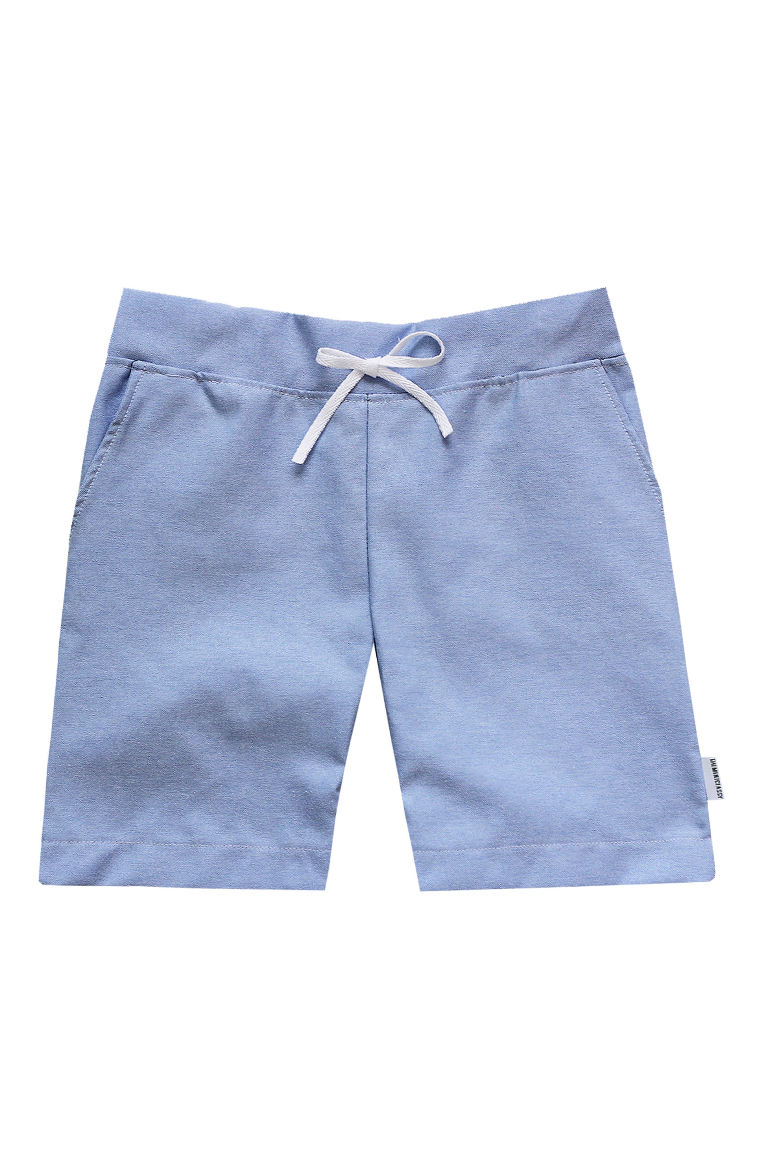 Chambray Drawstring Shorts,                             Main thumbnail 1, color,                             450