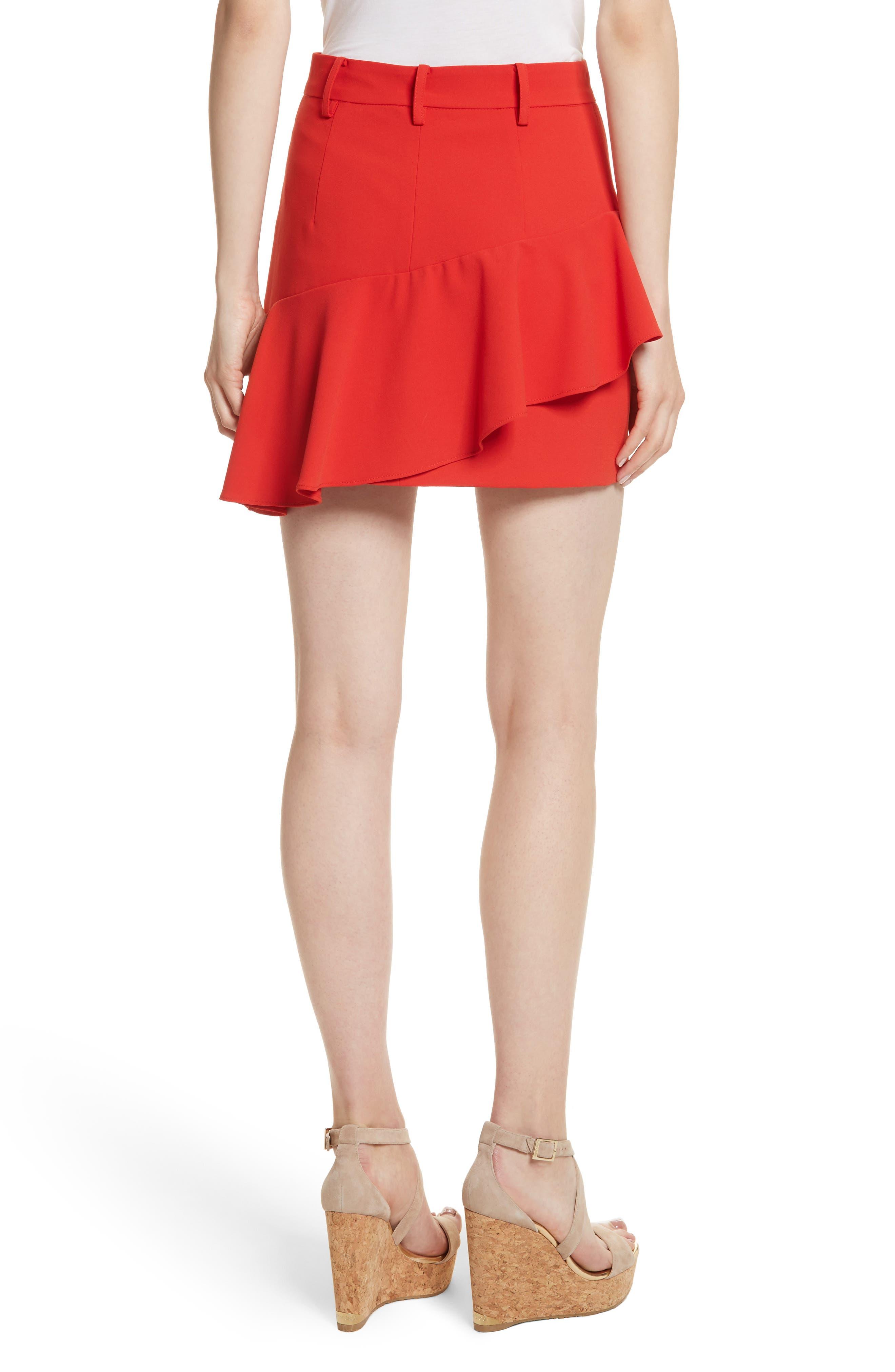 Nisa Ruffle Miniskirt,                             Alternate thumbnail 2, color,                             612