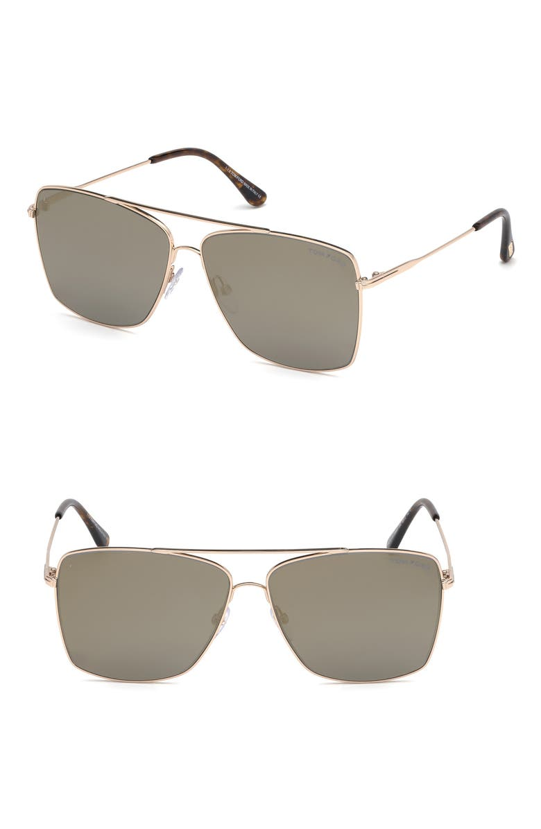 Tom Ford Sunglasses MAGNUS 60MM AVIATOR SUNGLASSES