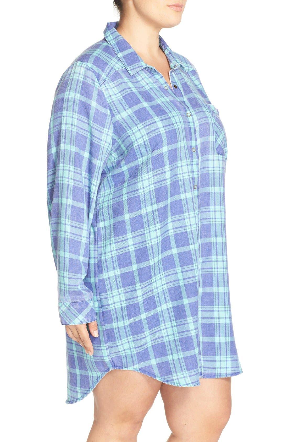 Plaid Night Shirt,                             Alternate thumbnail 17, color,