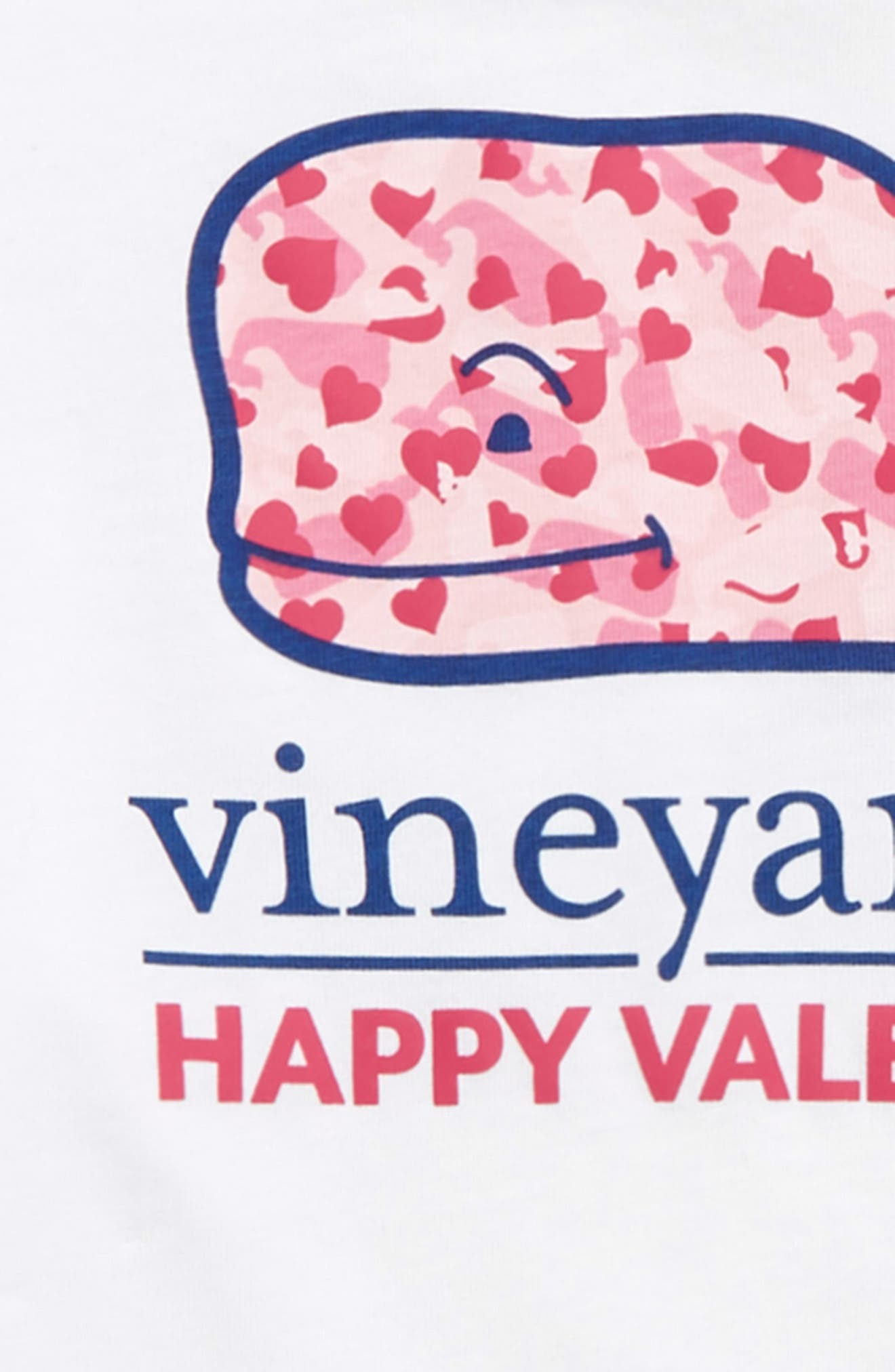 Valentine's Day Whale Pocket T-Shirt,                             Alternate thumbnail 3, color,                             FLAMINGO