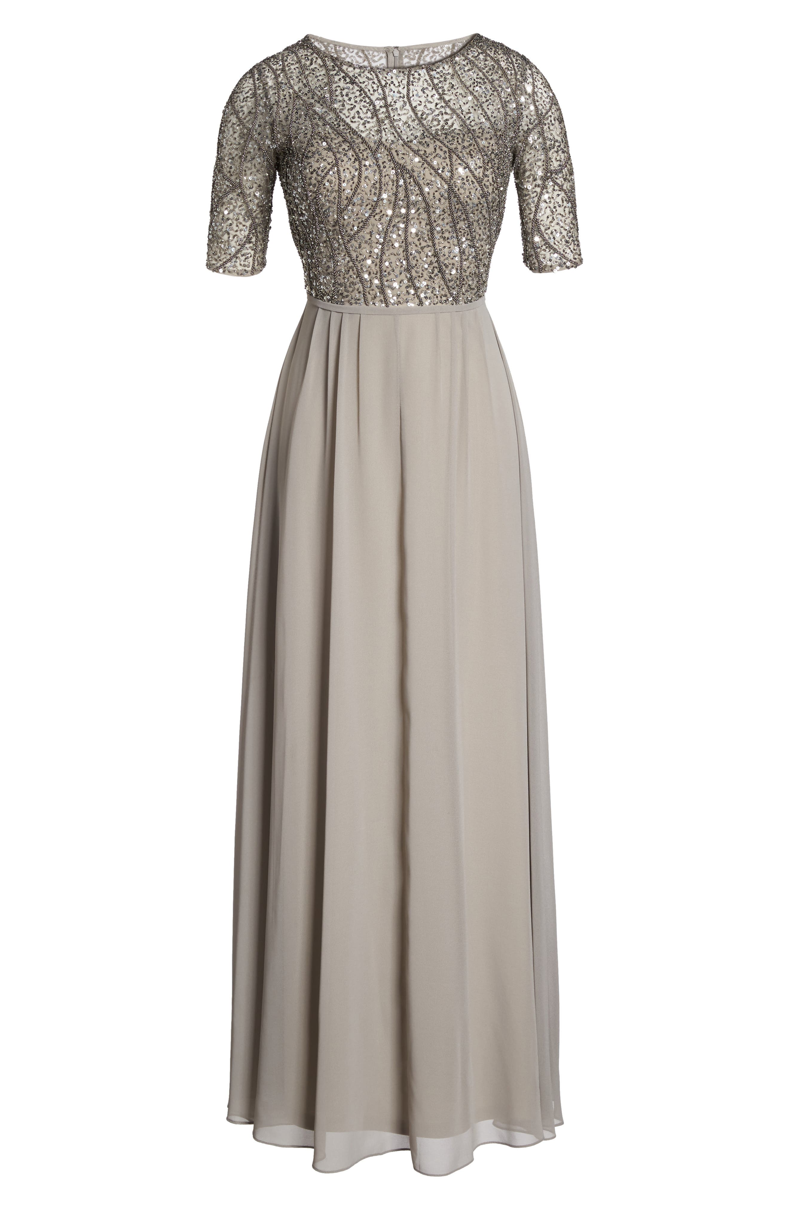 Embellished Bodice Gown,                             Alternate thumbnail 6, color,                             046