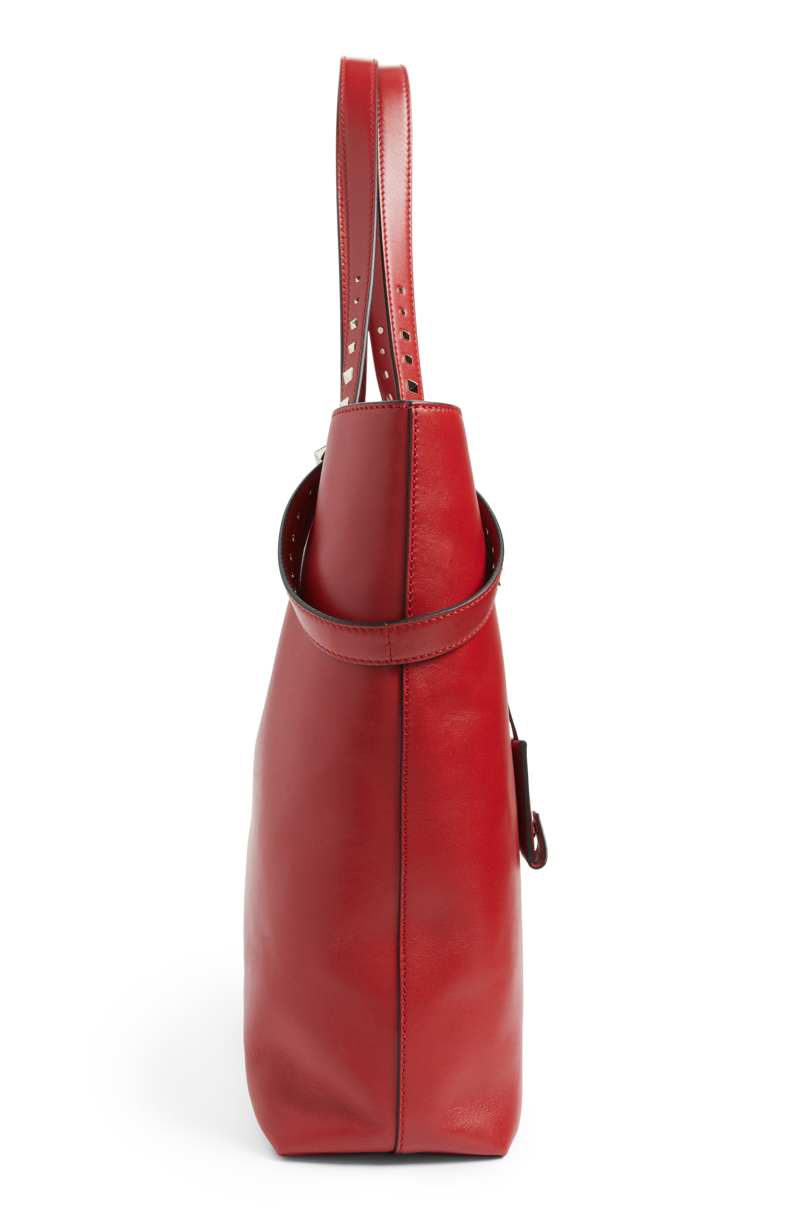 Lovestud Leather Tote,                             Alternate thumbnail 15, color,
