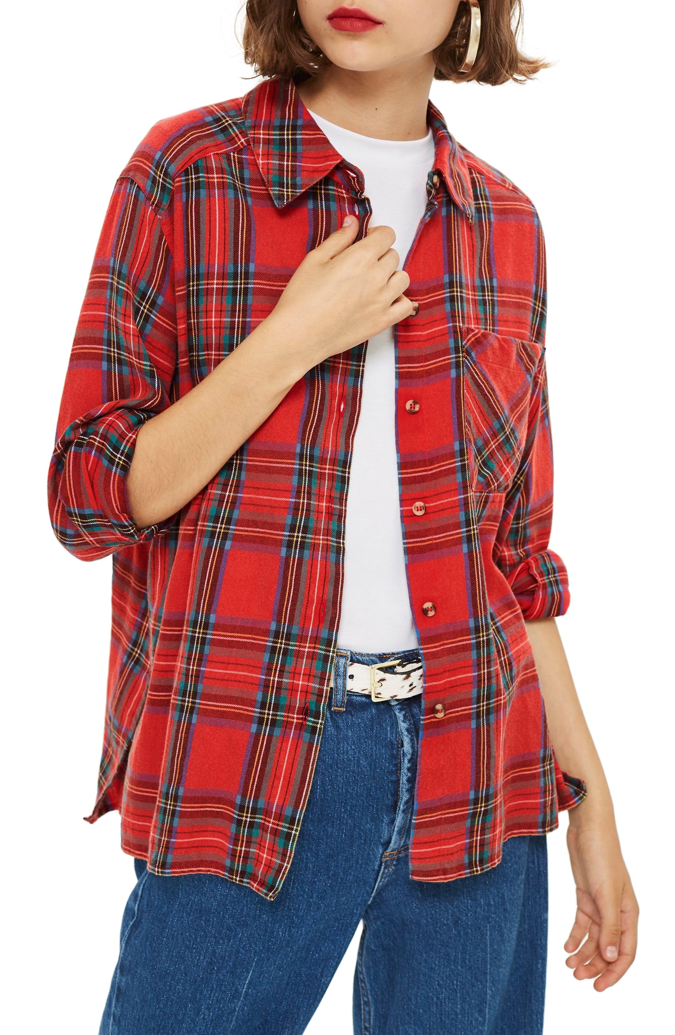Plaid Shirt,                             Main thumbnail 1, color,                             600