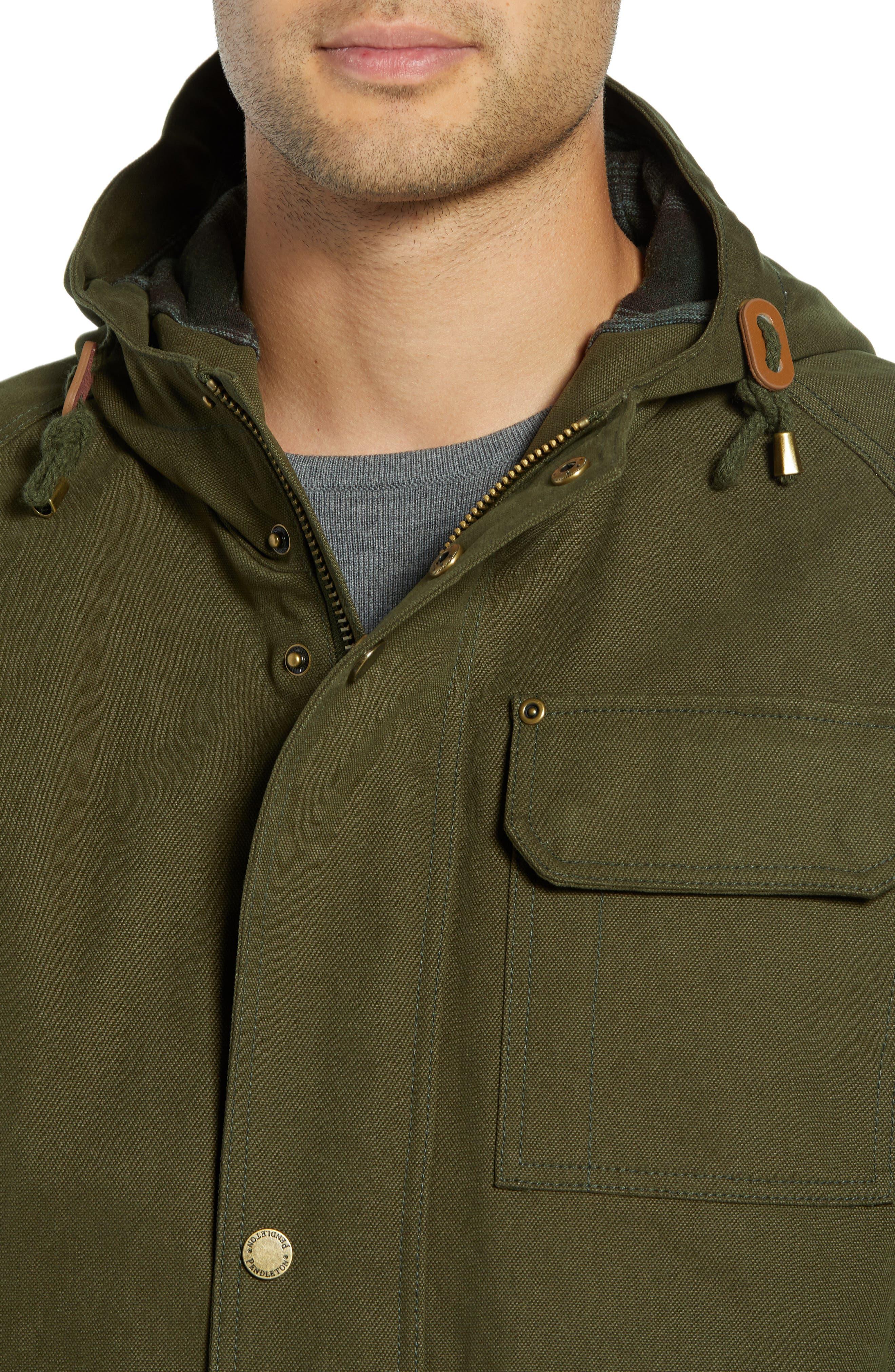 Dry Goods Cascade Raincoat,                             Alternate thumbnail 4, color,                             OLIVE