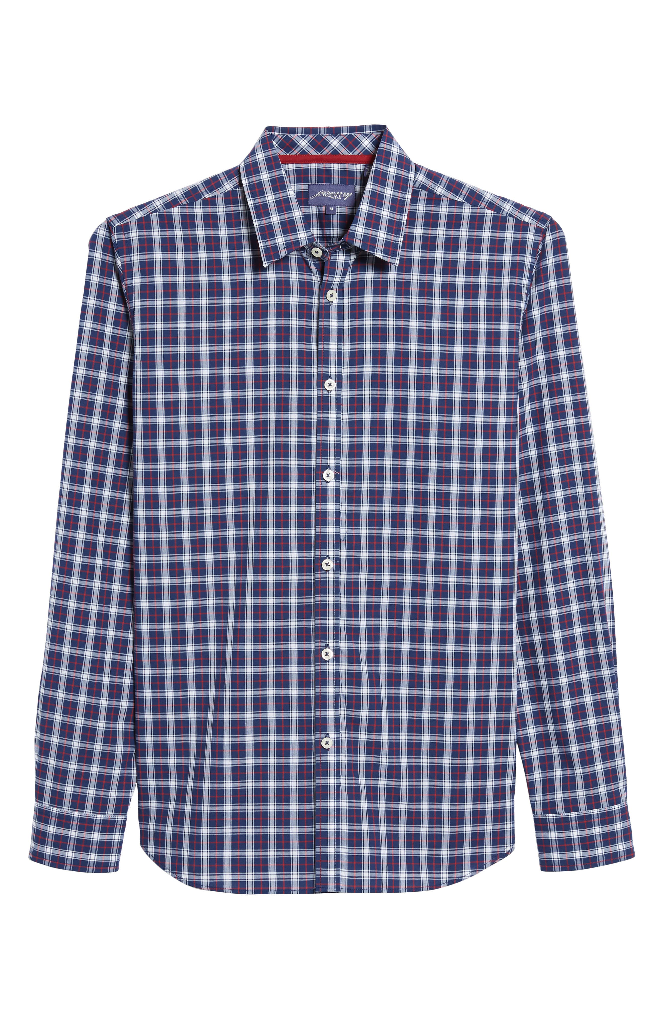 Slim Fit Check Sport Shirt,                             Alternate thumbnail 6, color,                             411