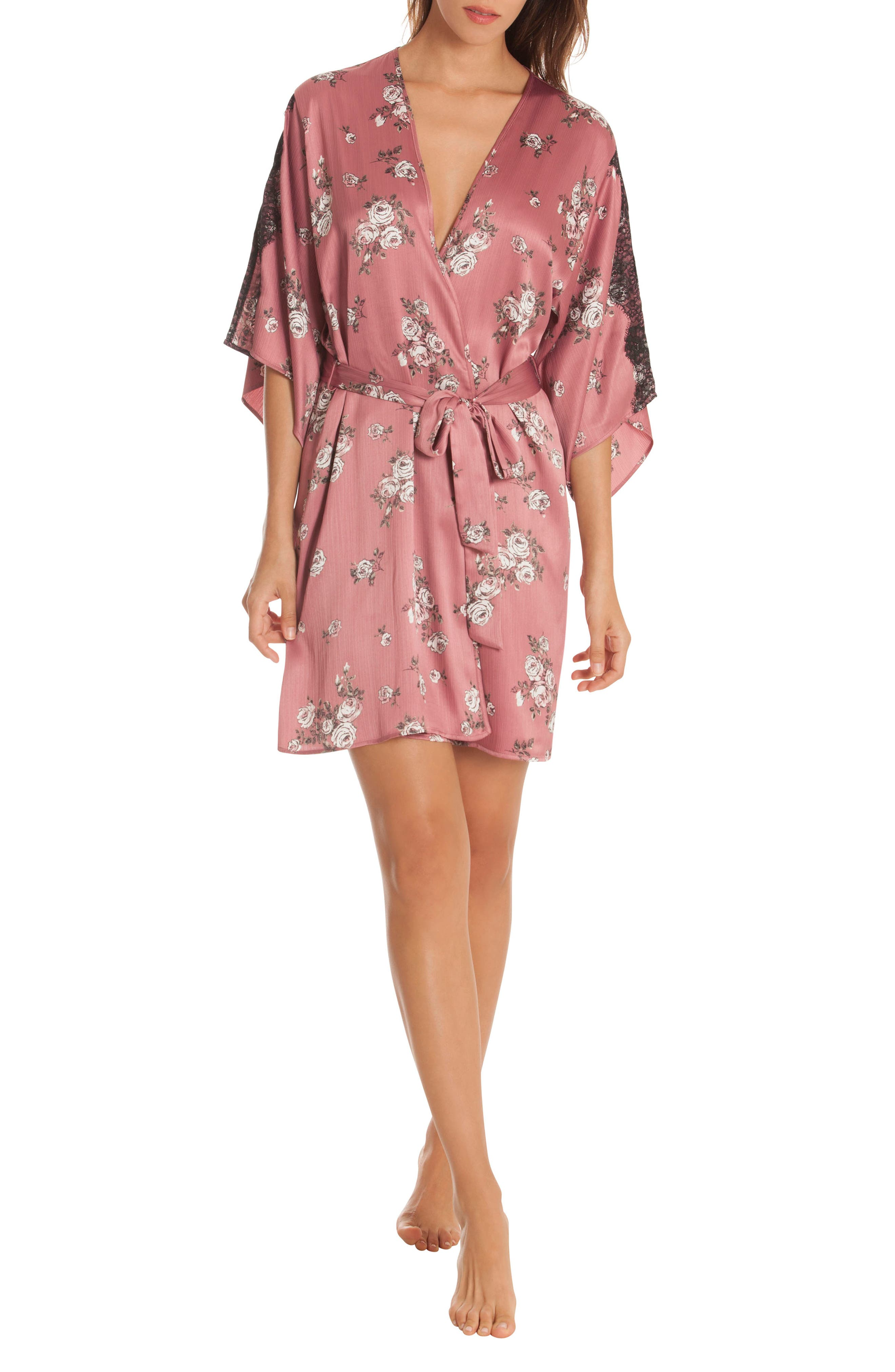 Tegan Kimono Wrap,                             Alternate thumbnail 7, color,                             ROSE