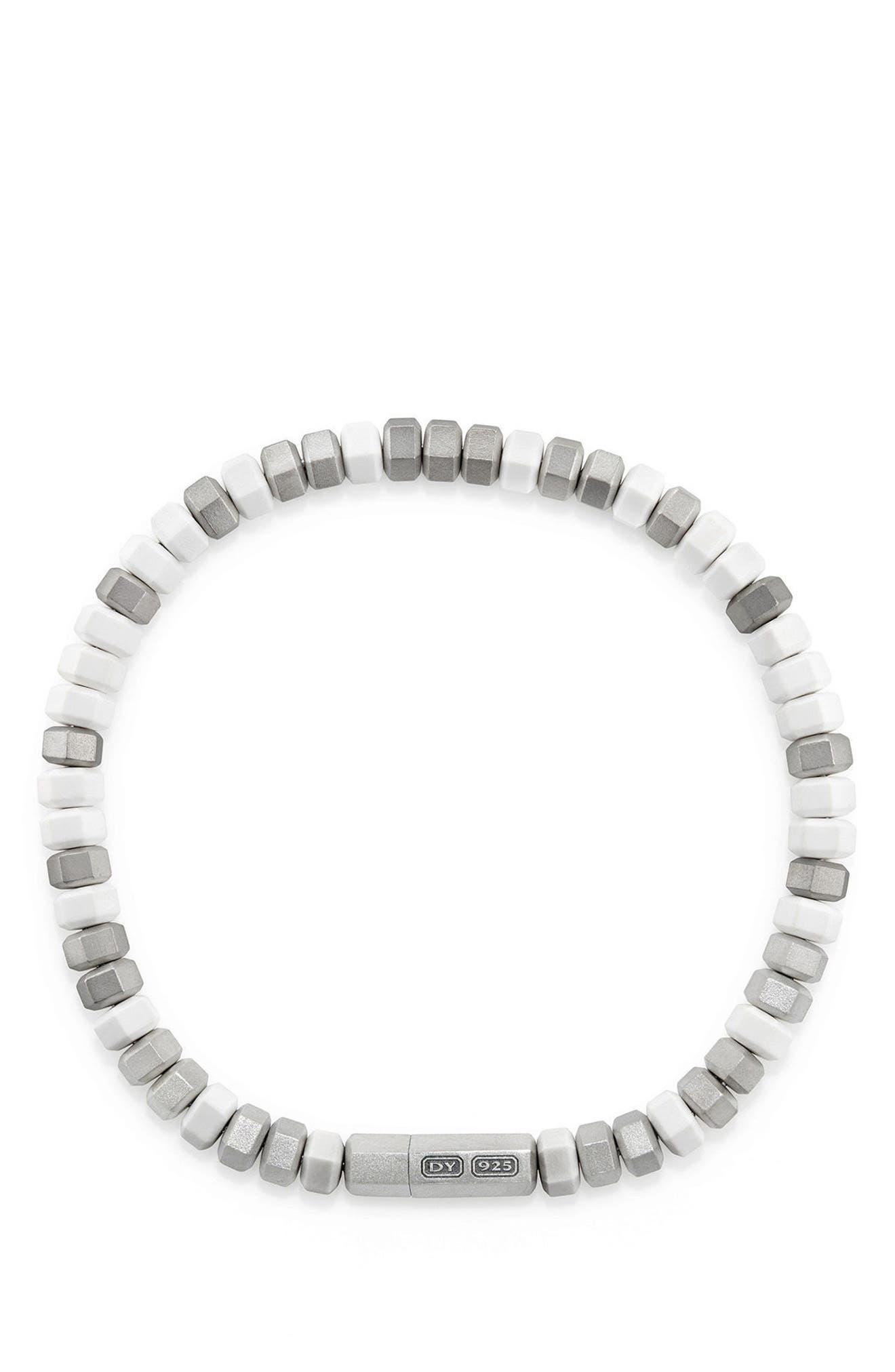 Hex Bead Bracelet,                             Alternate thumbnail 2, color,                             WHITE