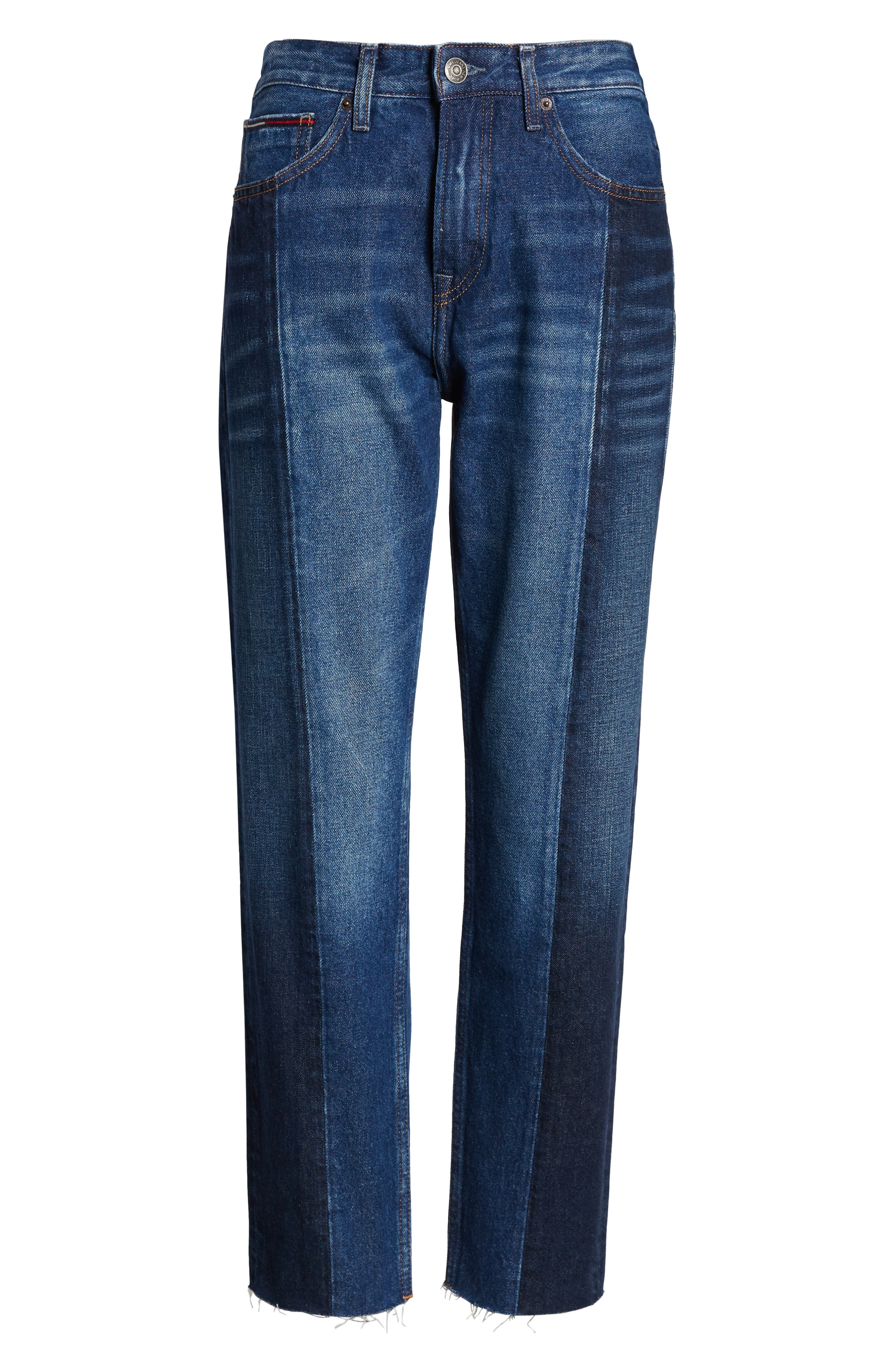 Izzy Paneled Slim Ankle Jeans,                             Alternate thumbnail 7, color,                             TOMMY JEAN NEW COMBO