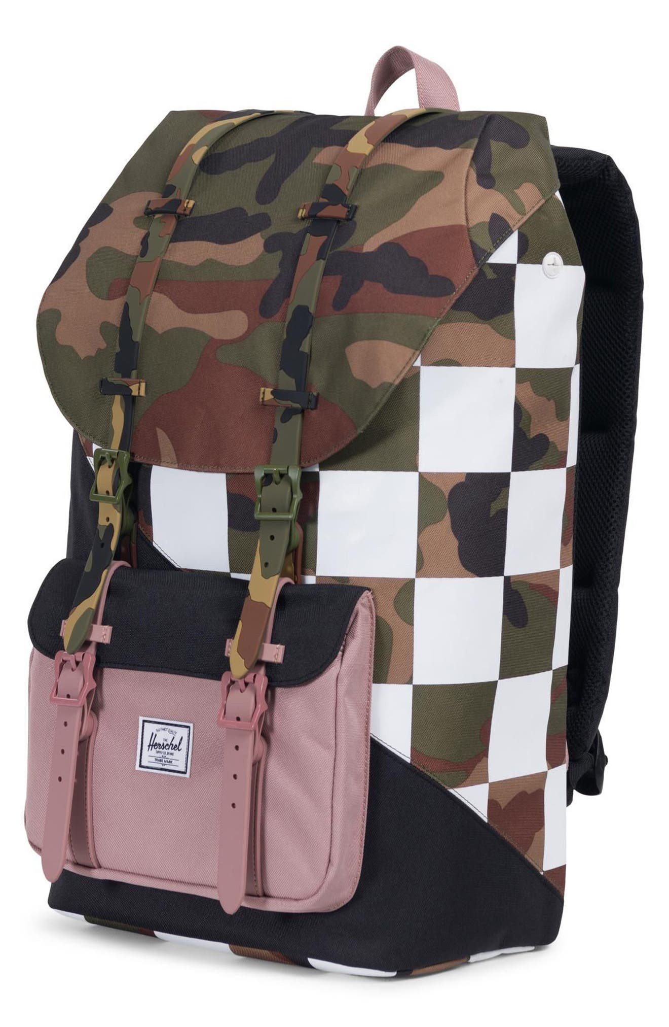 Little America Kaleidoscope Backpack,                             Alternate thumbnail 4, color,                             WOODLAND CAMO