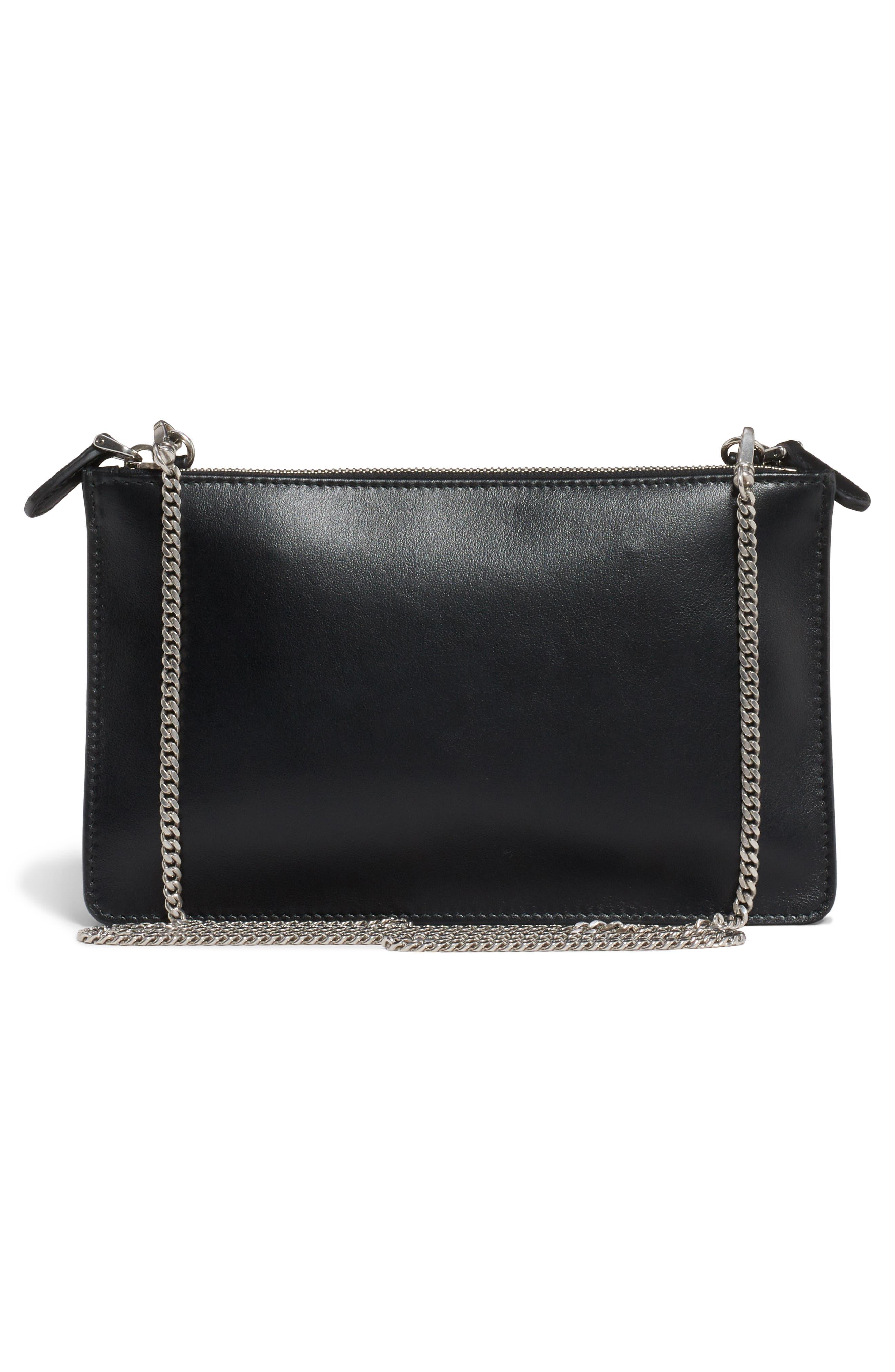 City Calfskin Leather Crossbody Bag,                             Alternate thumbnail 2, color,                             001
