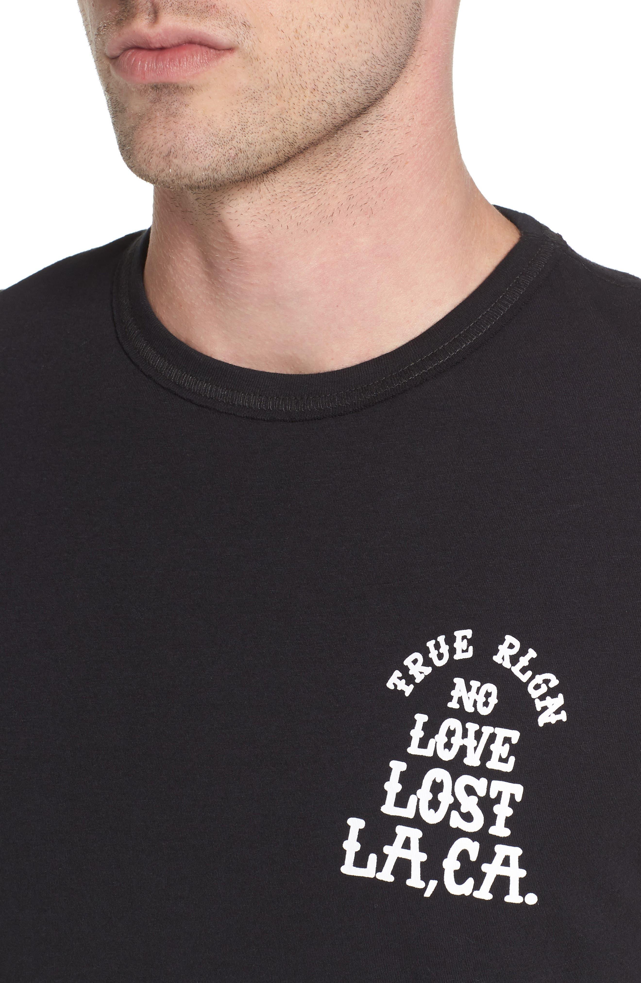 No Love Lost T-Shirt,                             Alternate thumbnail 4, color,                             001