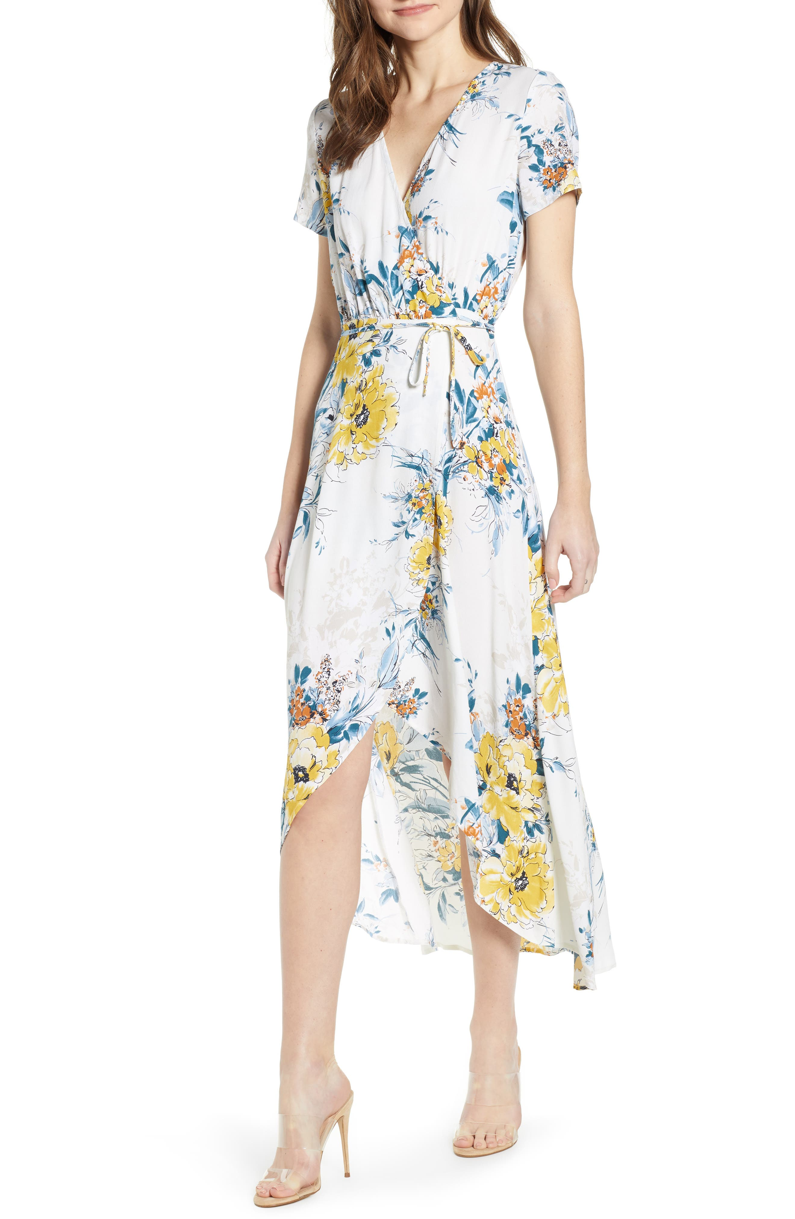Leith Everyday High/low Wrap Dress, Ivory