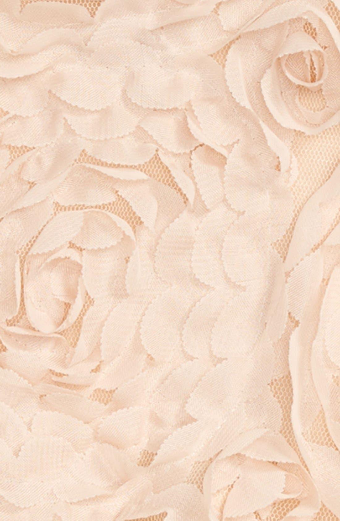 Ribbon Rosette Tutu Dress,                             Alternate thumbnail 2, color,                             CHAMPAGNE