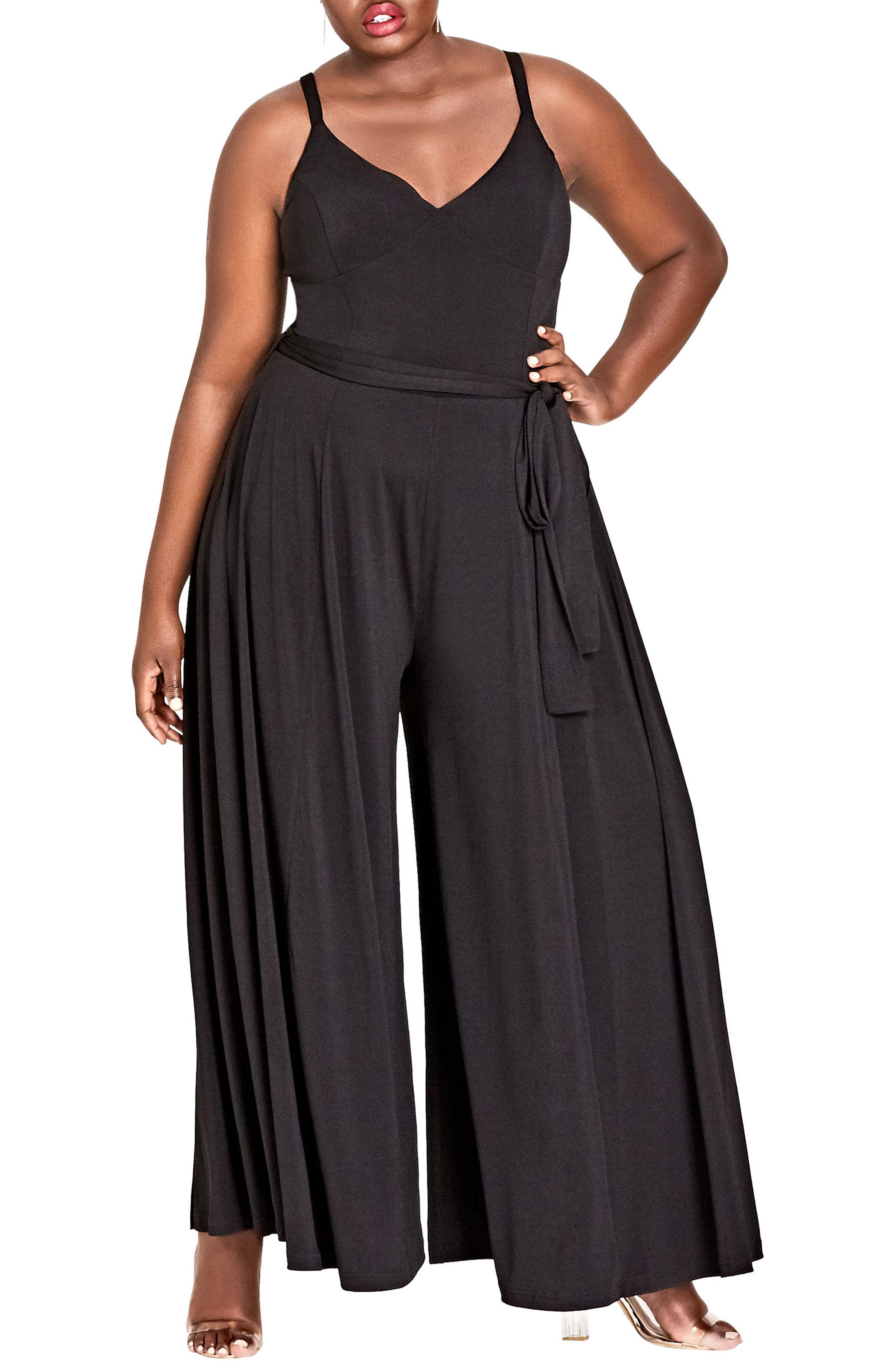 Miss Slinky Jumpsuit,                         Main,                         color, BLACK