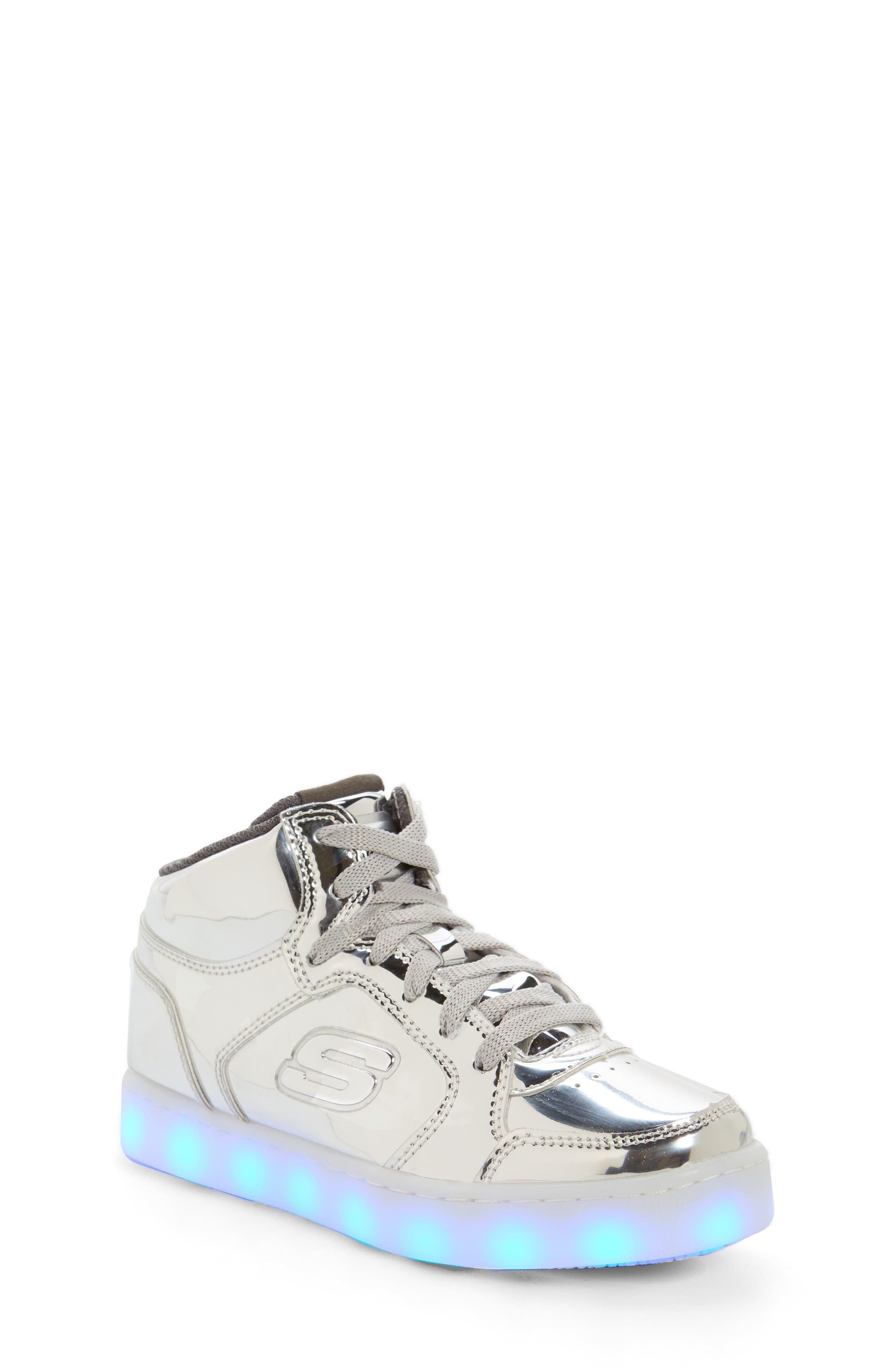 Energy Lights Metallic High Top Sneaker,                             Alternate thumbnail 21, color,