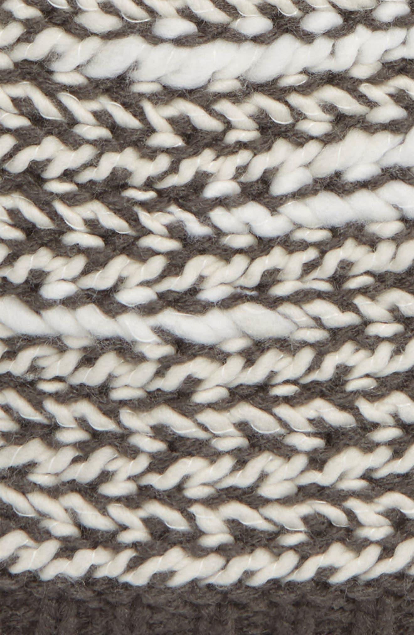 Kaylinda Slouchy Beanie,                             Alternate thumbnail 2, color,                             WEATHERED BLACK/ VINTAGE WHITE