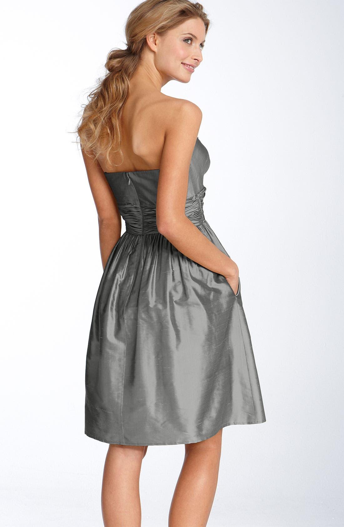 ELIZA J,                             Silk Shantung Dress,                             Alternate thumbnail 2, color,                             010