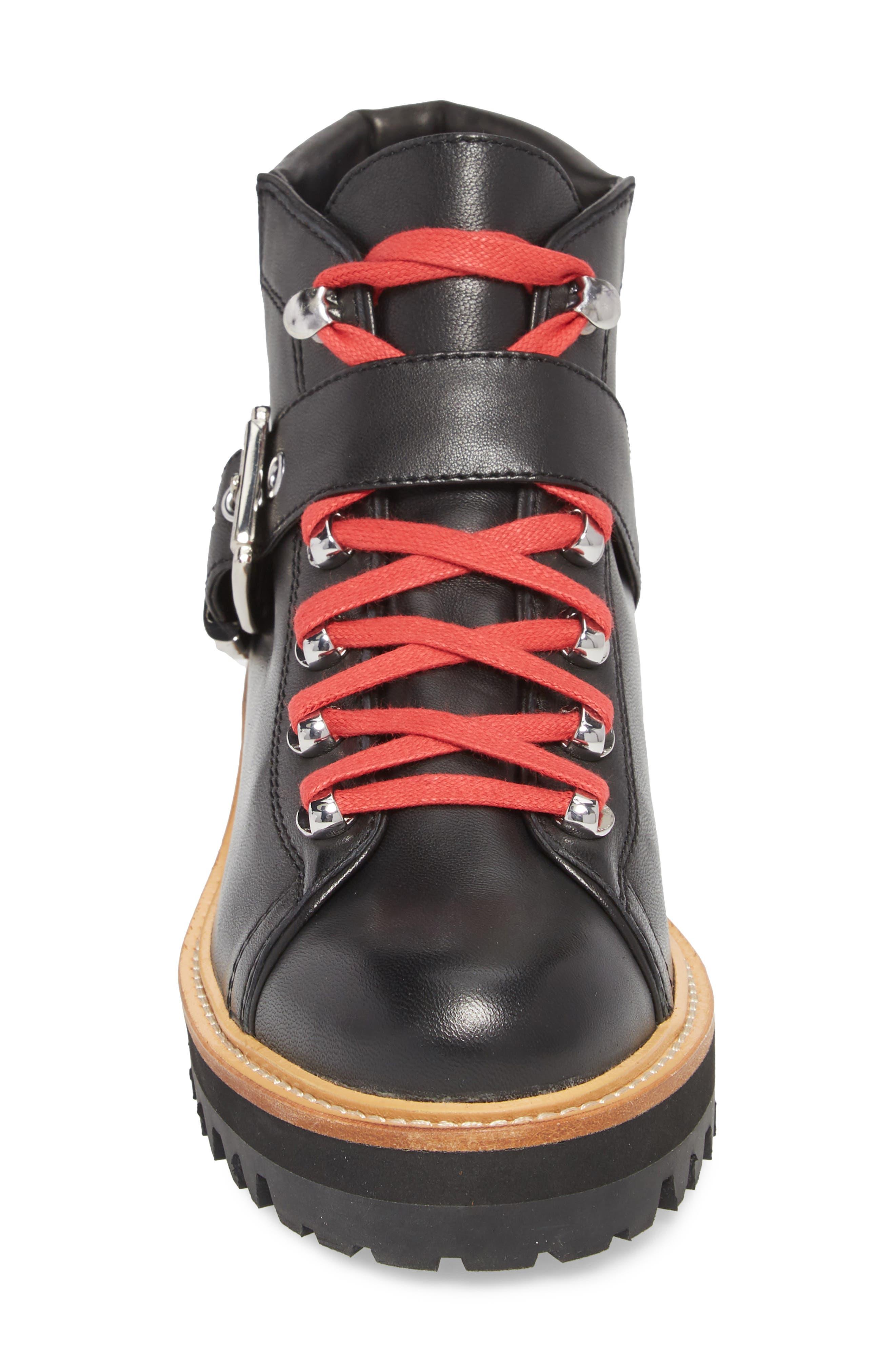 Indre Platform Boot,                             Alternate thumbnail 4, color,                             BLACK LEATHER