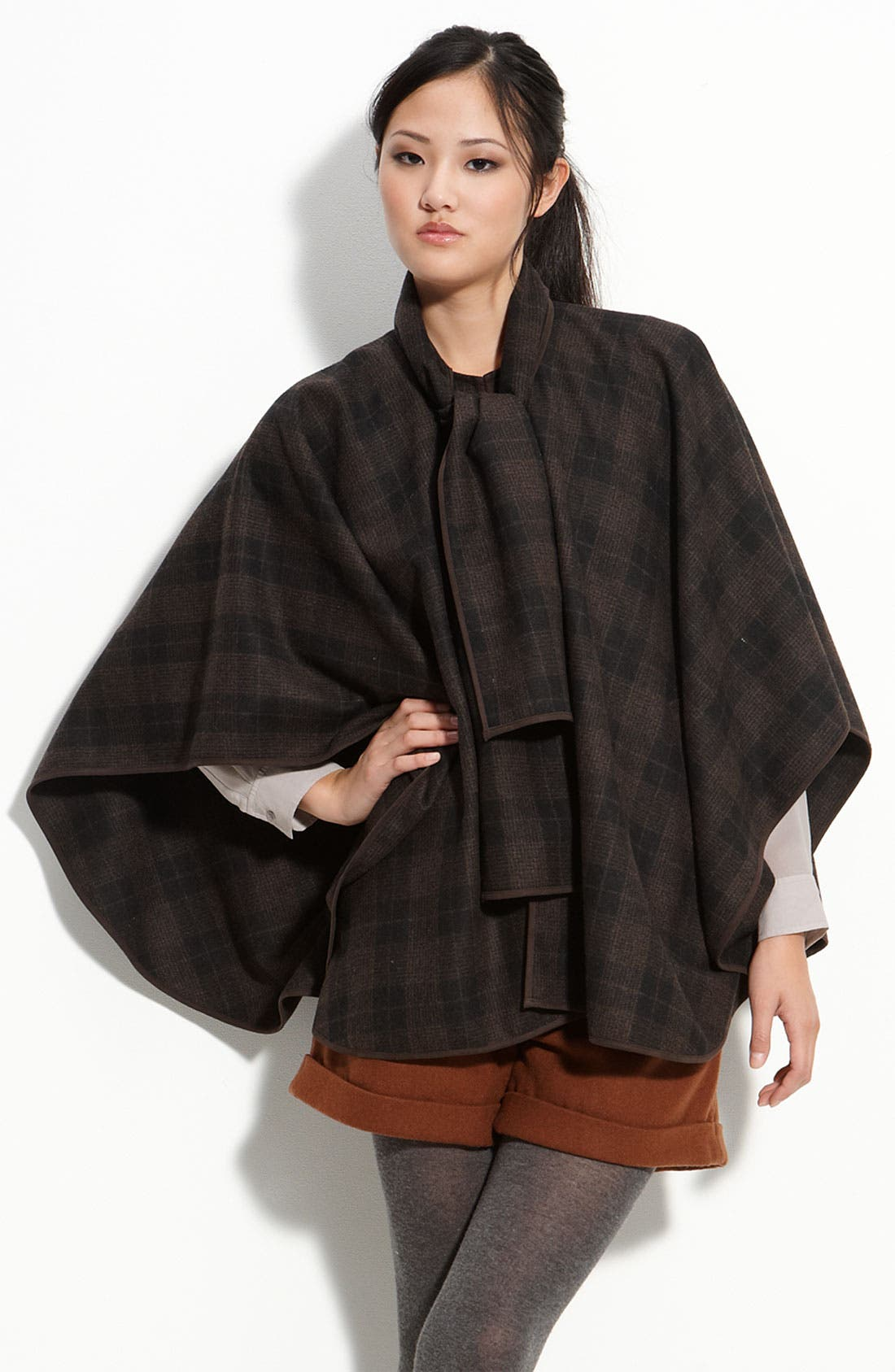 Tie Front Cape, Main, color, 001