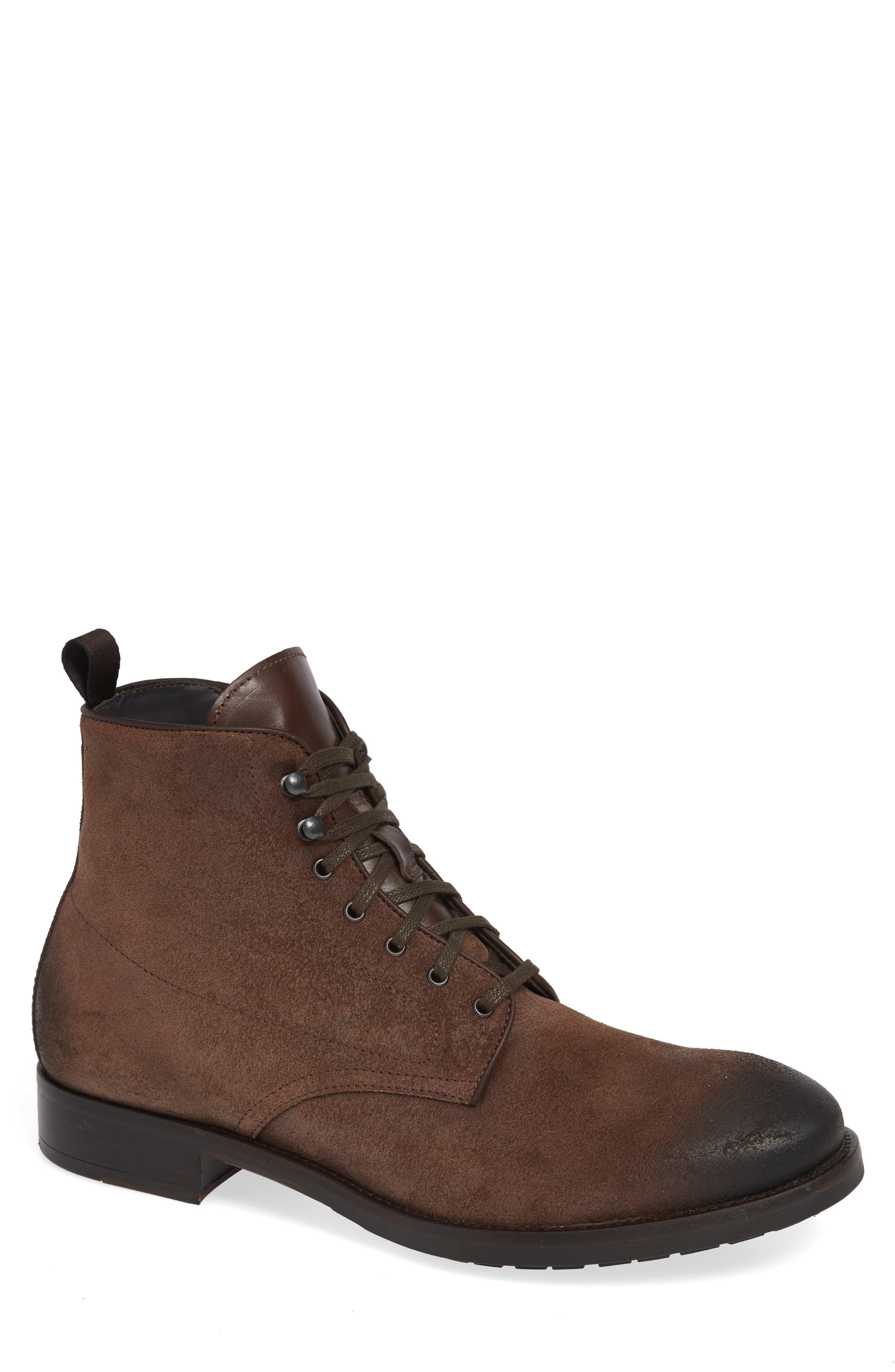 Athens Plain Toe Boot,                             Main thumbnail 1, color,                             TMORO SUEDE/ LEATHER