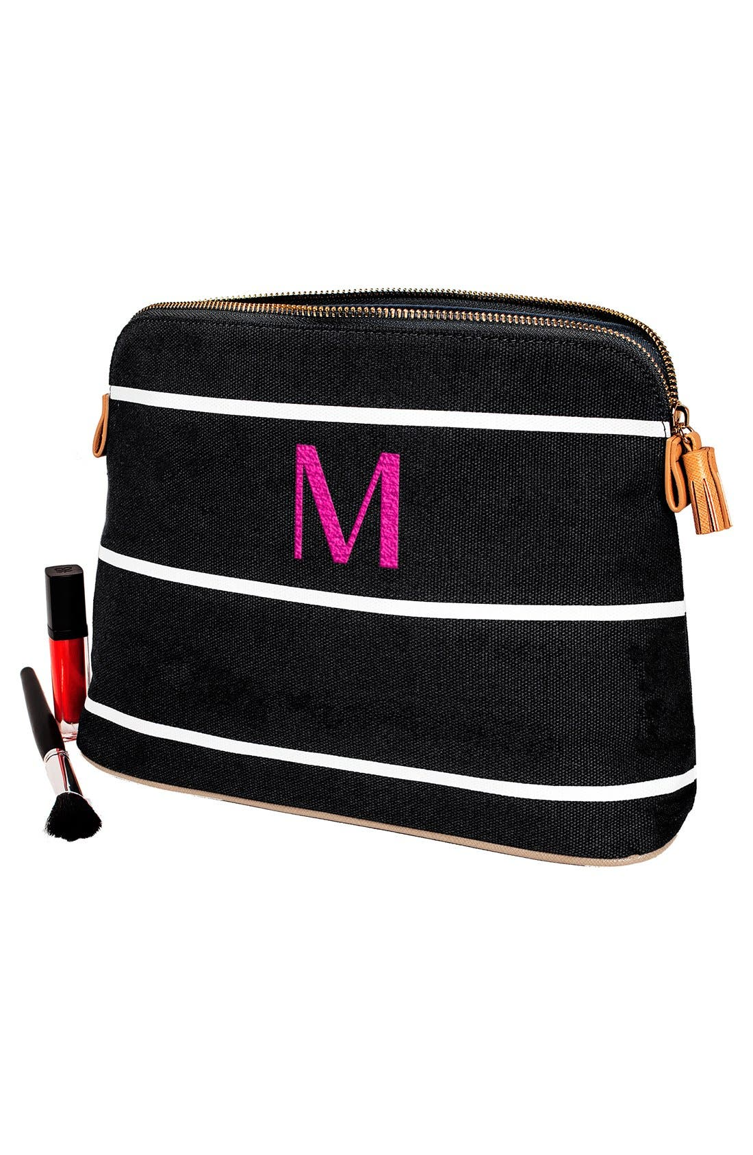 Monogram Cosmetics Bag,                             Alternate thumbnail 5, color,                             GREY H
