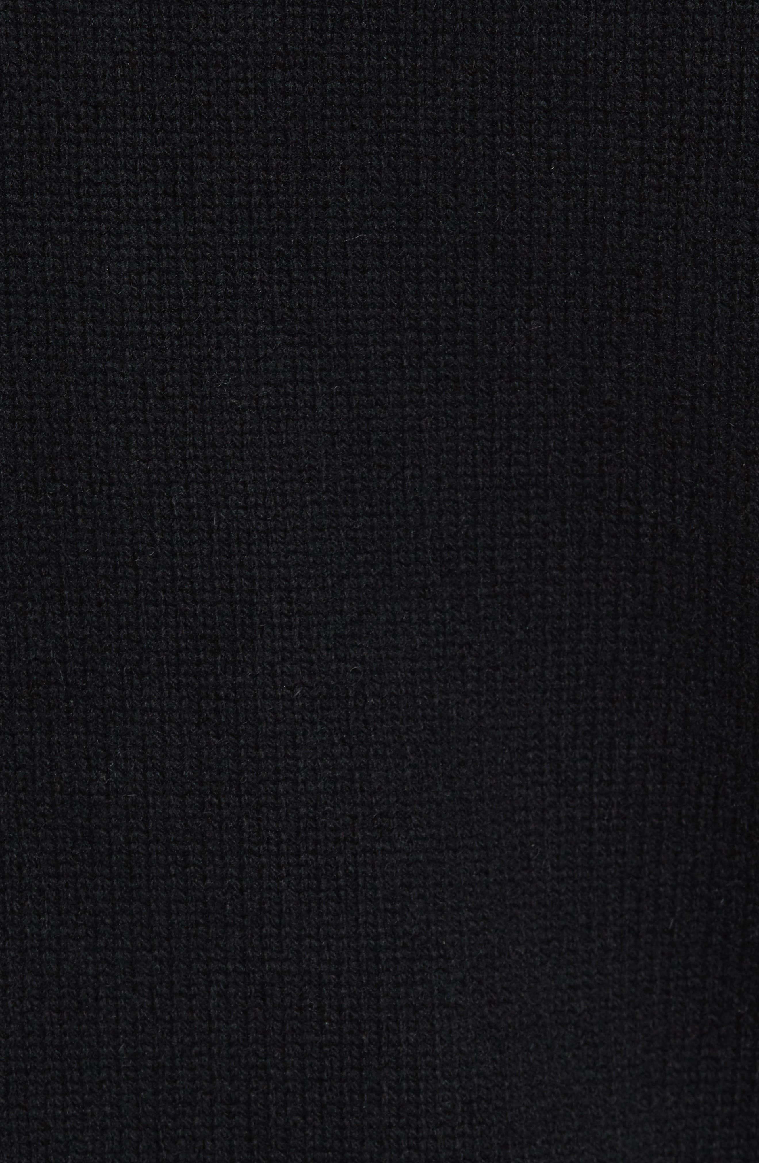 Front Zip Wool & Cashmere Hoodie,                             Alternate thumbnail 5, color,                             001