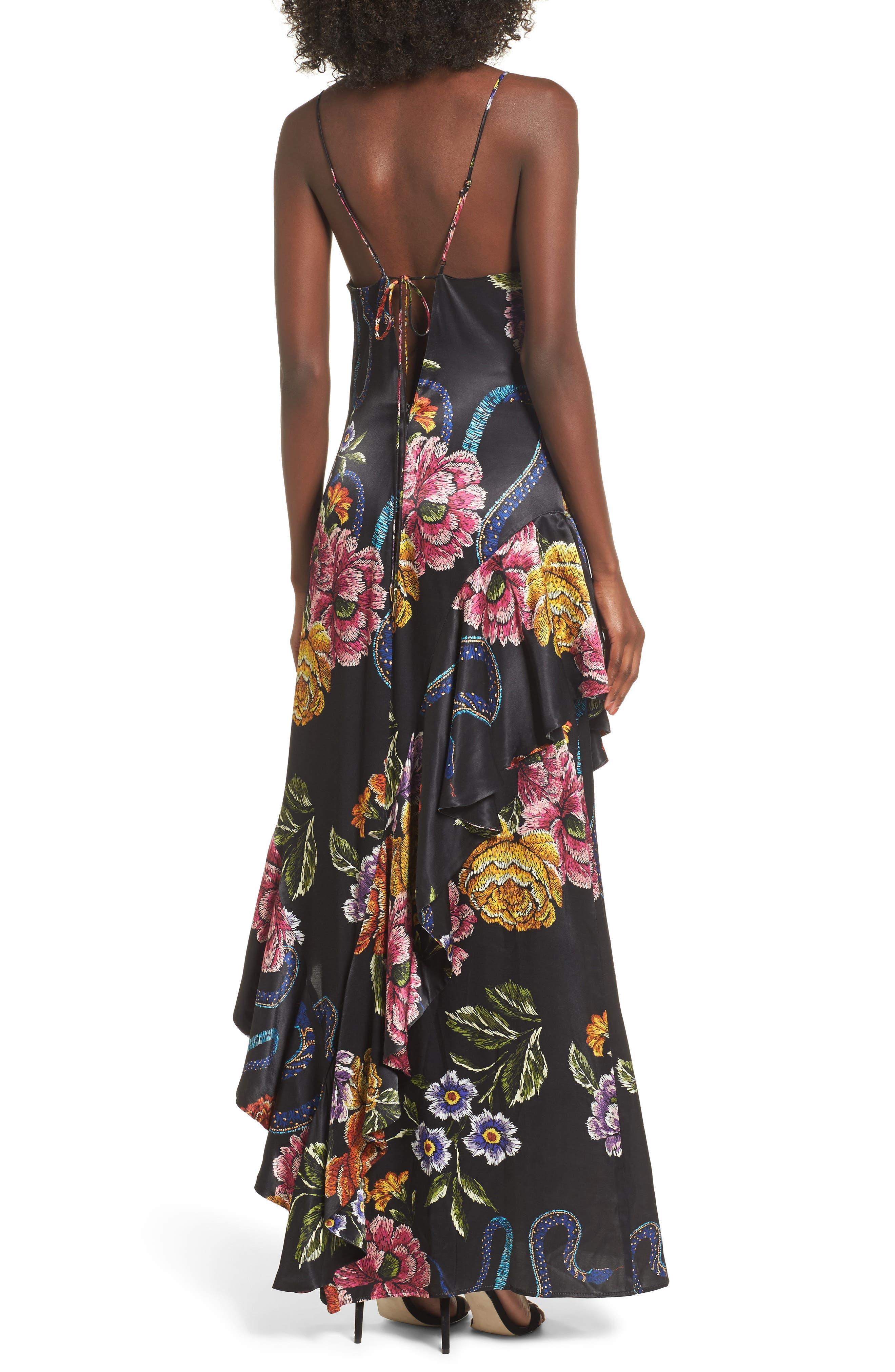 Florence Ruffle Maxi Dress,                             Alternate thumbnail 2, color,