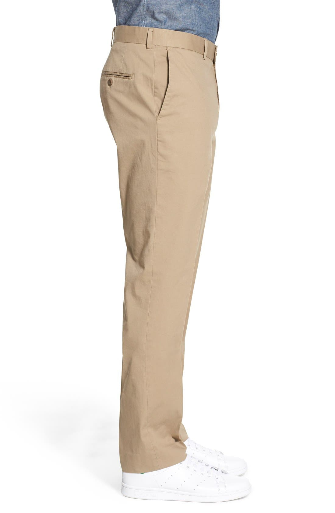 Washed Trim Fit Stretch Cotton Trousers,                             Alternate thumbnail 18, color,