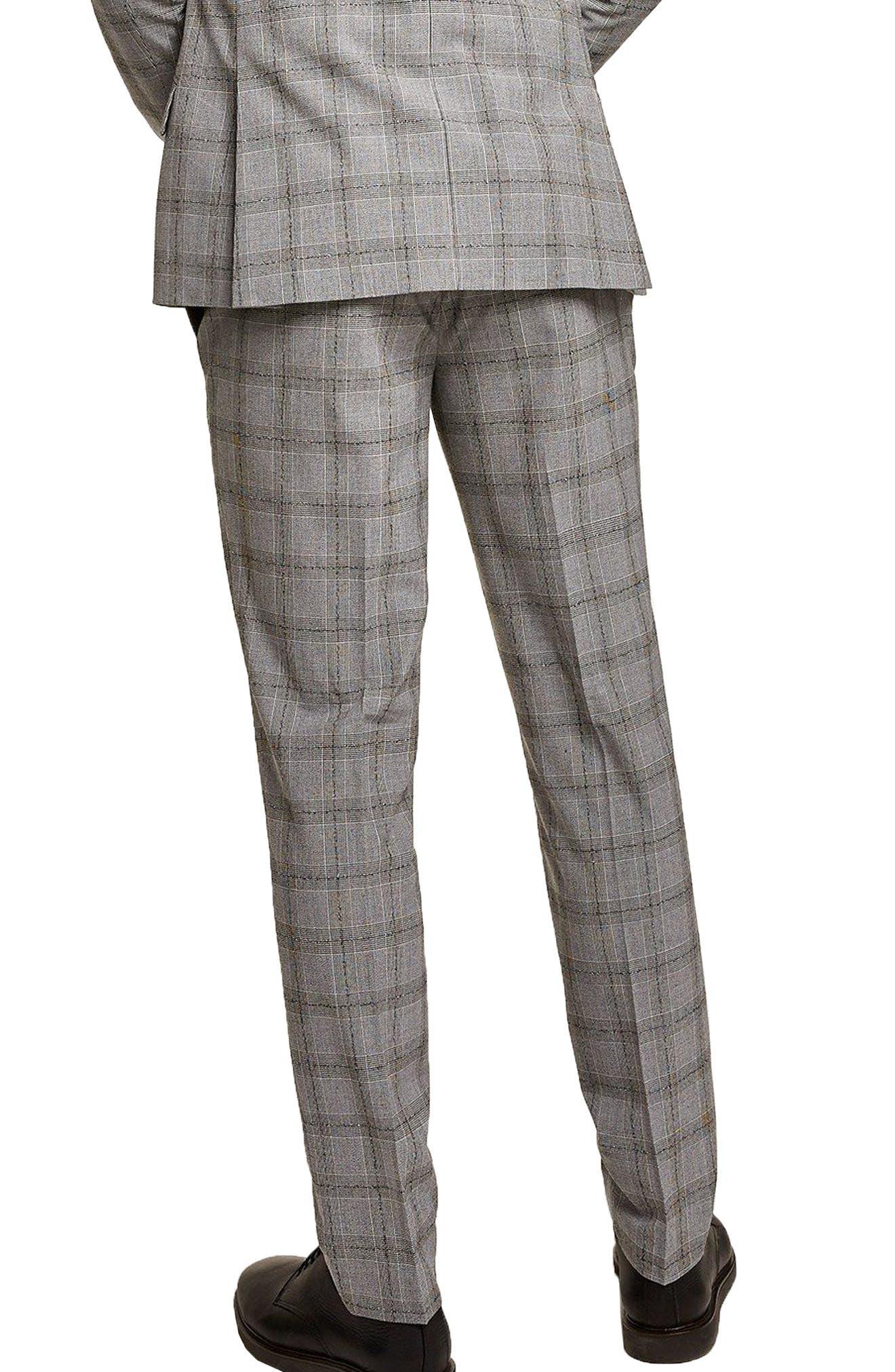 Check Suit Trousers,                             Alternate thumbnail 2, color,                             Grey/ Black