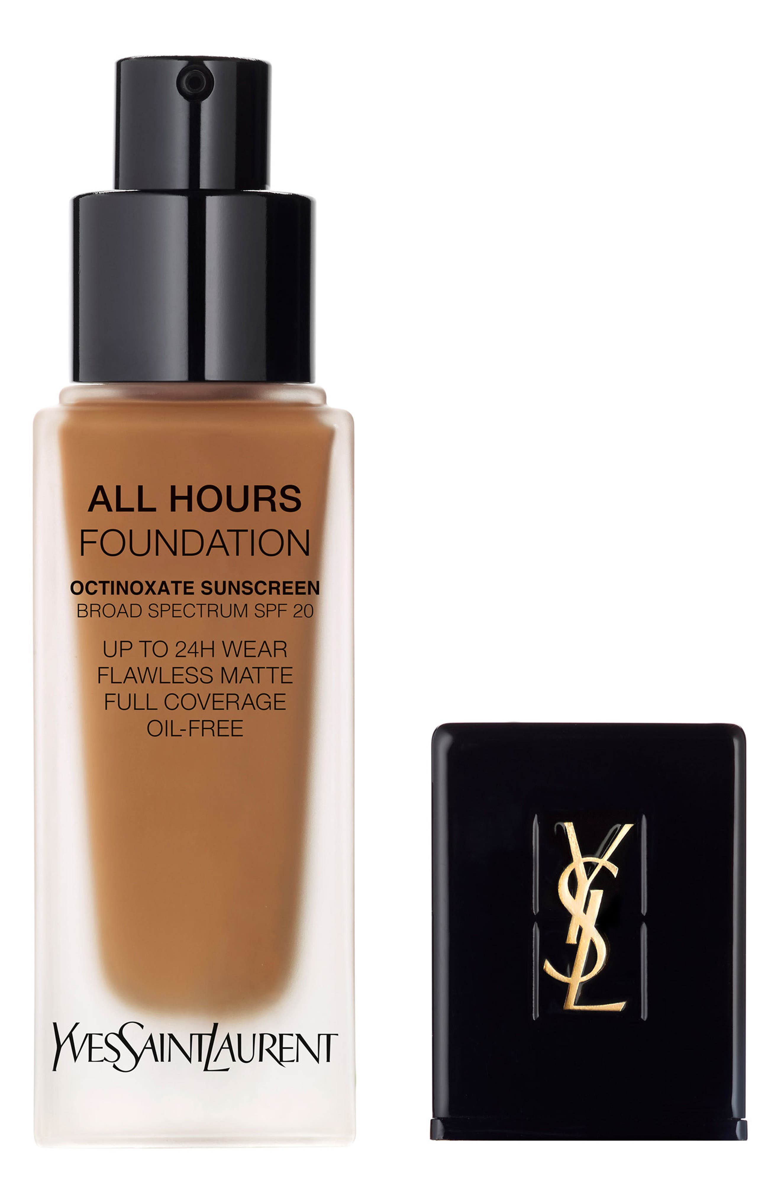 Yves Saint Laurent All Hours Full Coverage Matte Foundation Spf 20 - B80 Chocolate