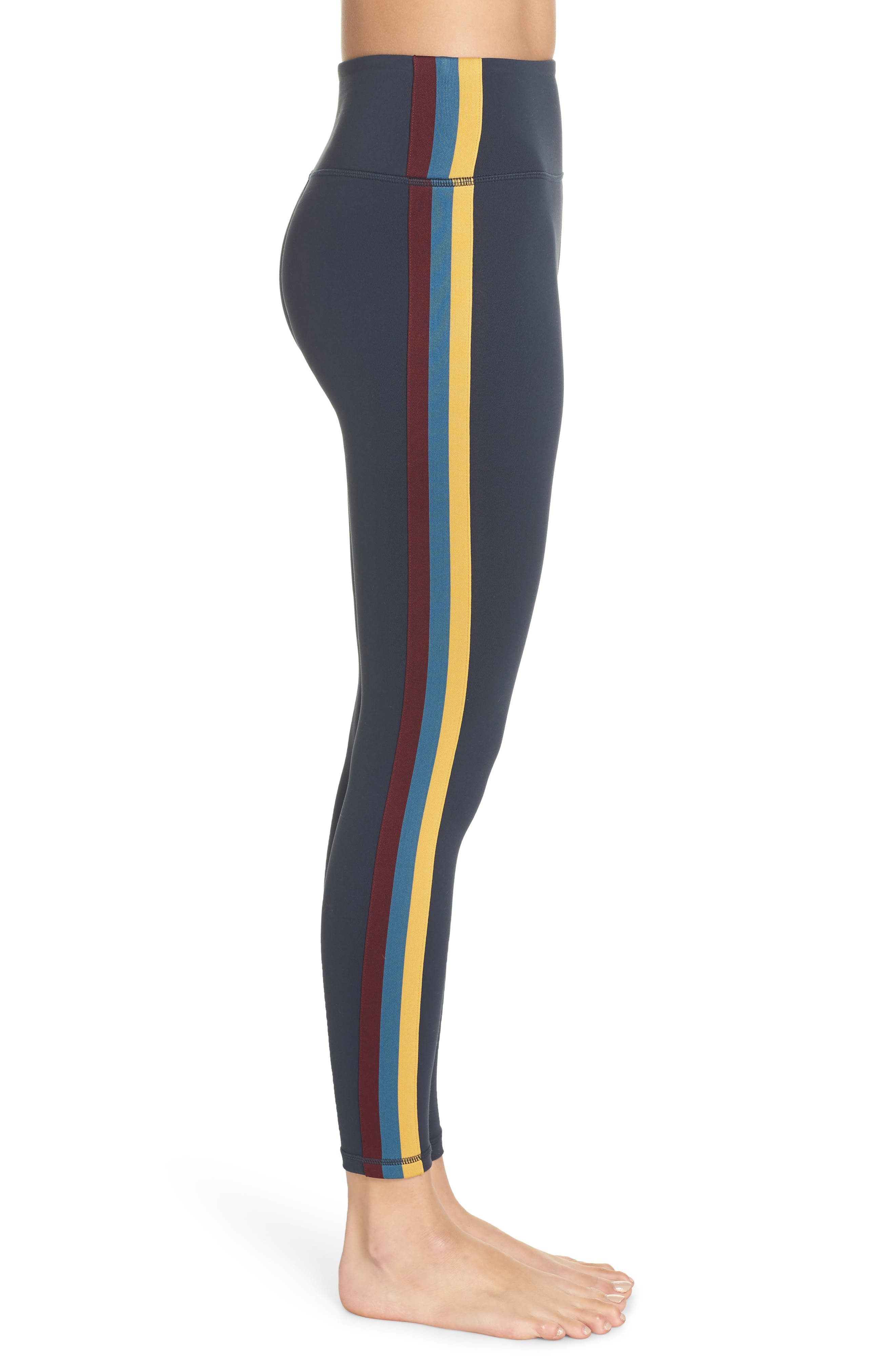 Perfect High Waist Leggings,                             Alternate thumbnail 3, color,                             AURORA SKY