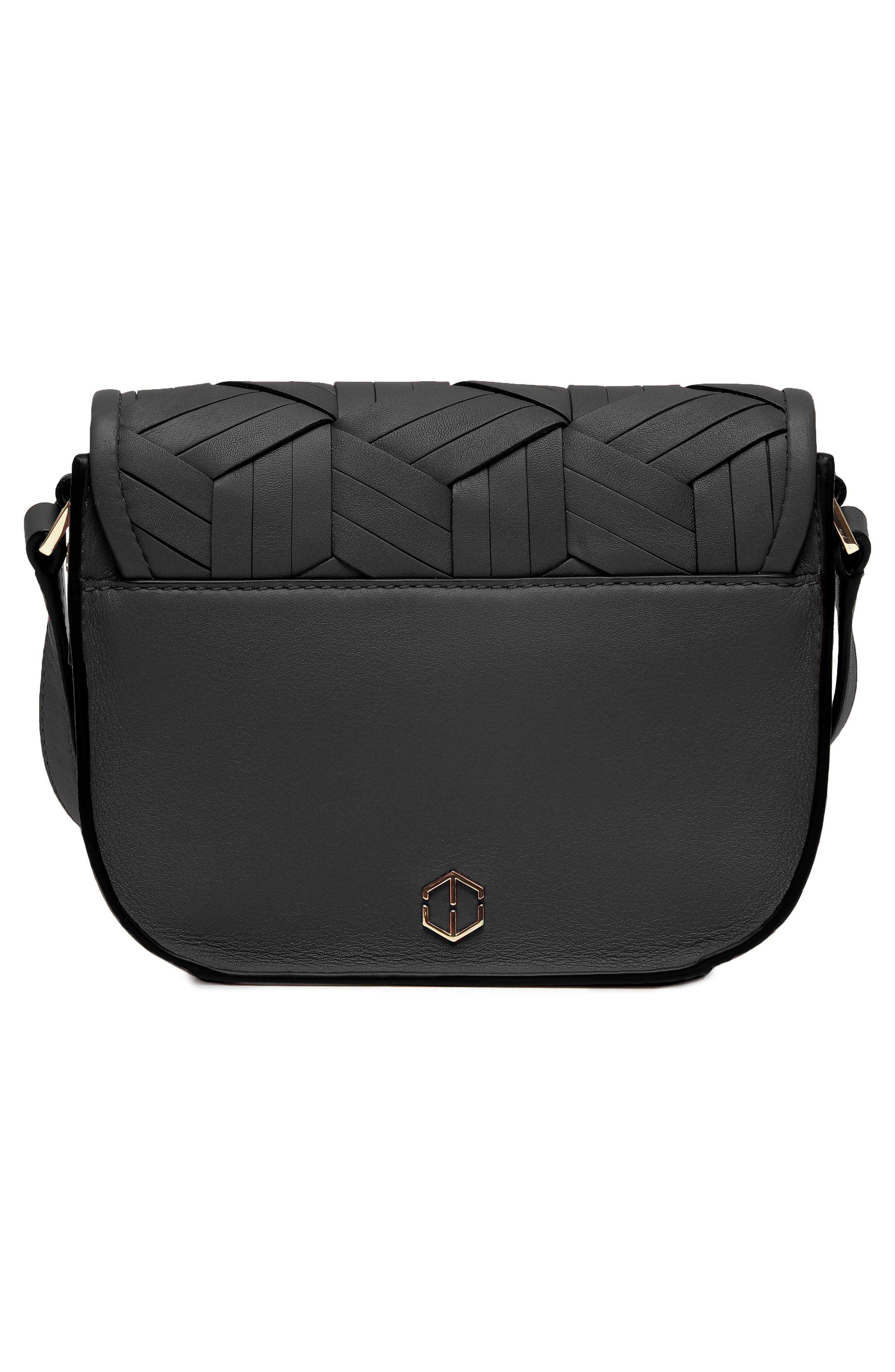 Mini Summit Leather Crossbody Bag,                             Alternate thumbnail 2, color,                             BLACK