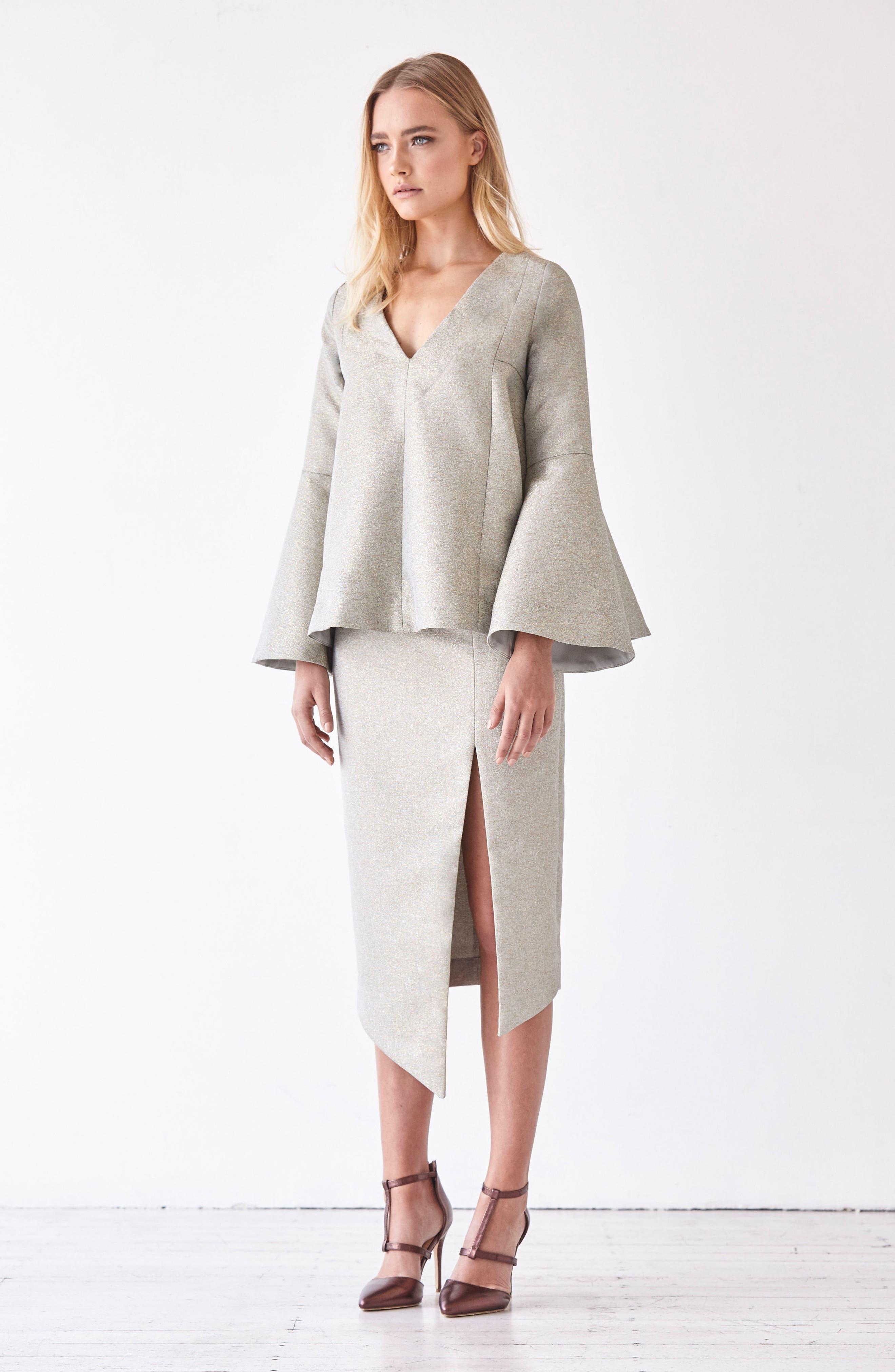 Valencia Midi Skirt,                             Alternate thumbnail 7, color,                             376