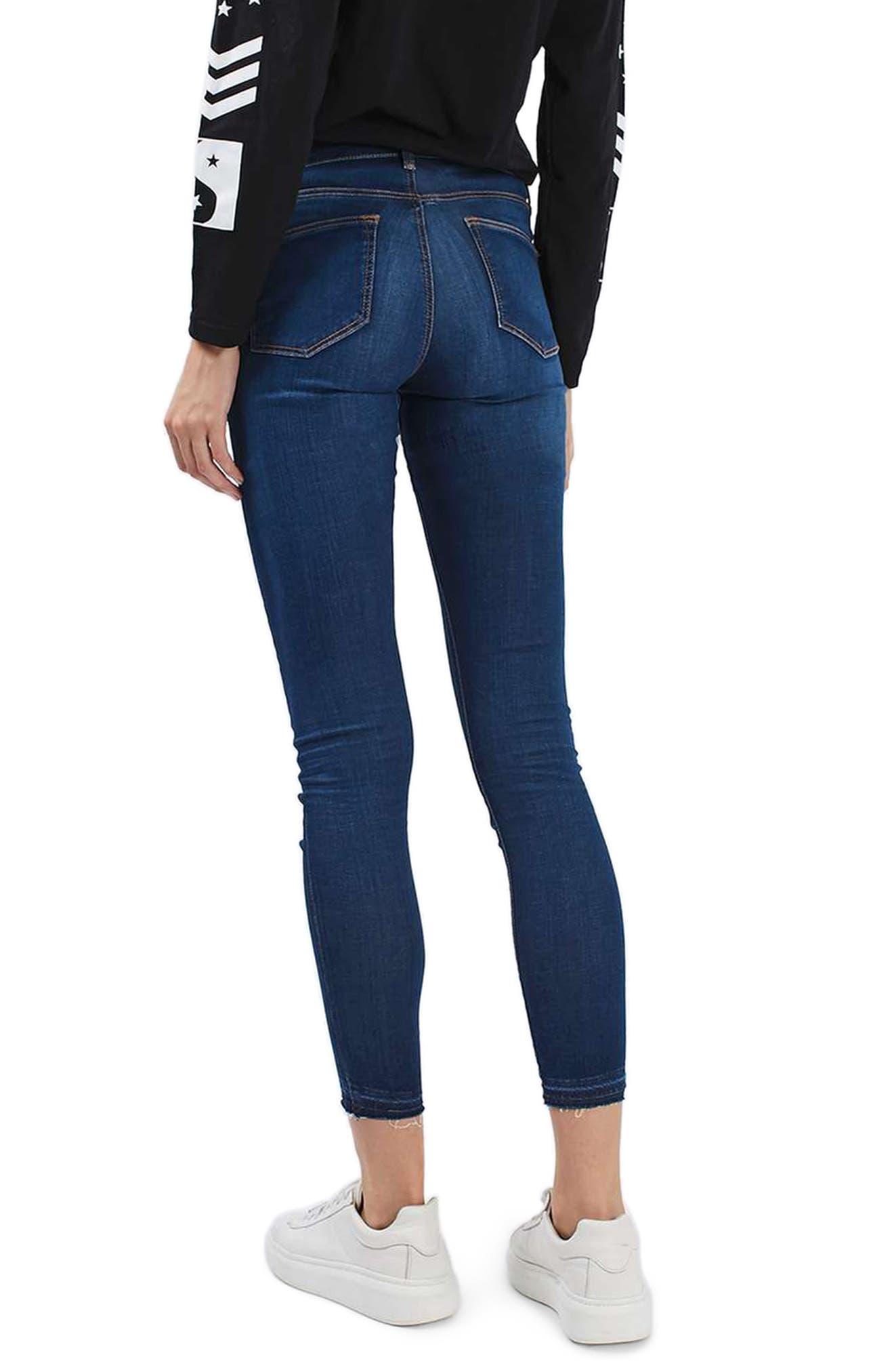 Leigh Released Hem Skinny Jeans,                             Alternate thumbnail 2, color,