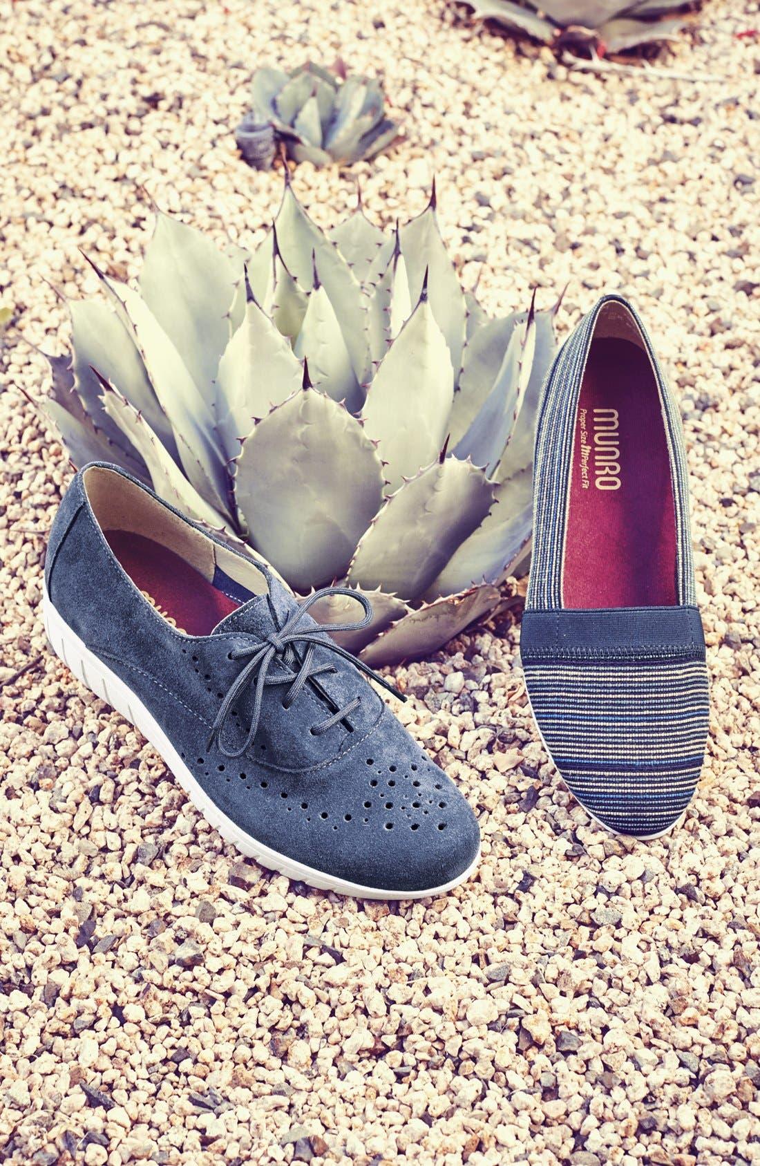 'Wellesley' Oxford Sneaker,                             Alternate thumbnail 5, color,                             BLACK SUEDE