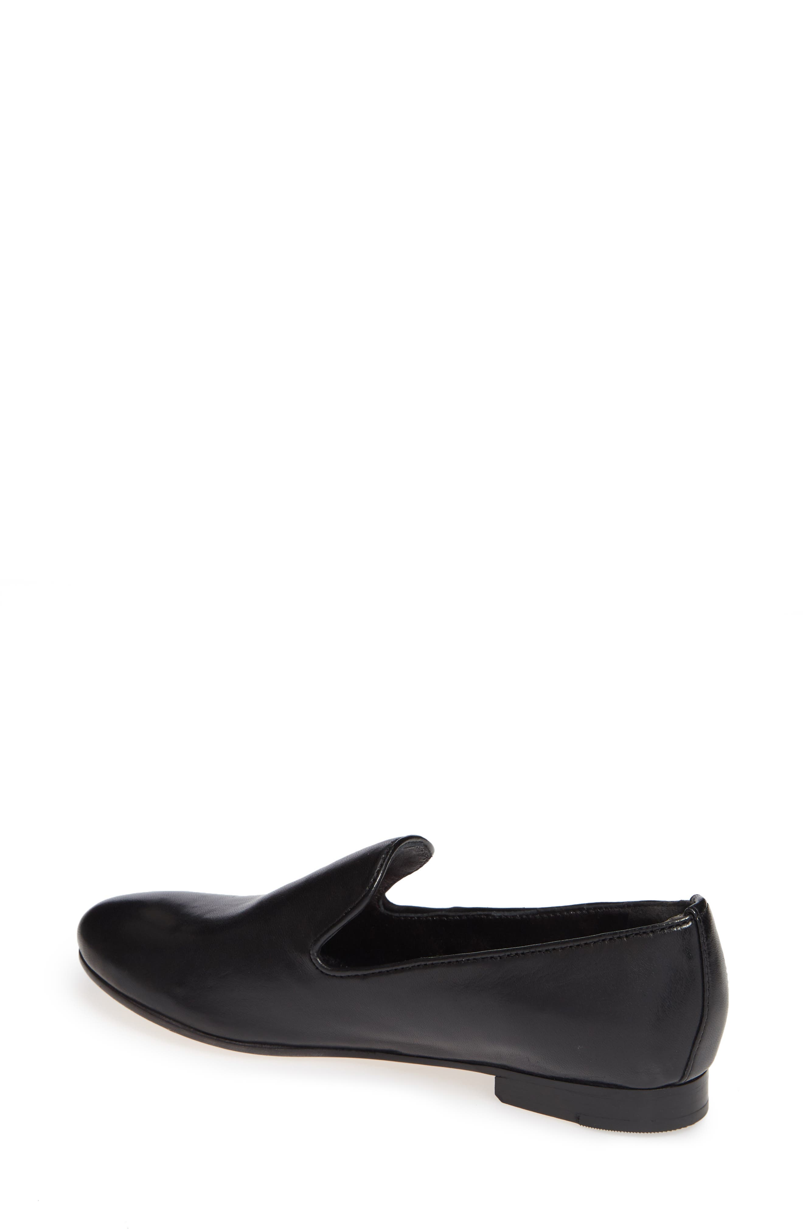Sierra Loafer,                             Alternate thumbnail 2, color,                             BLACK LEATHER