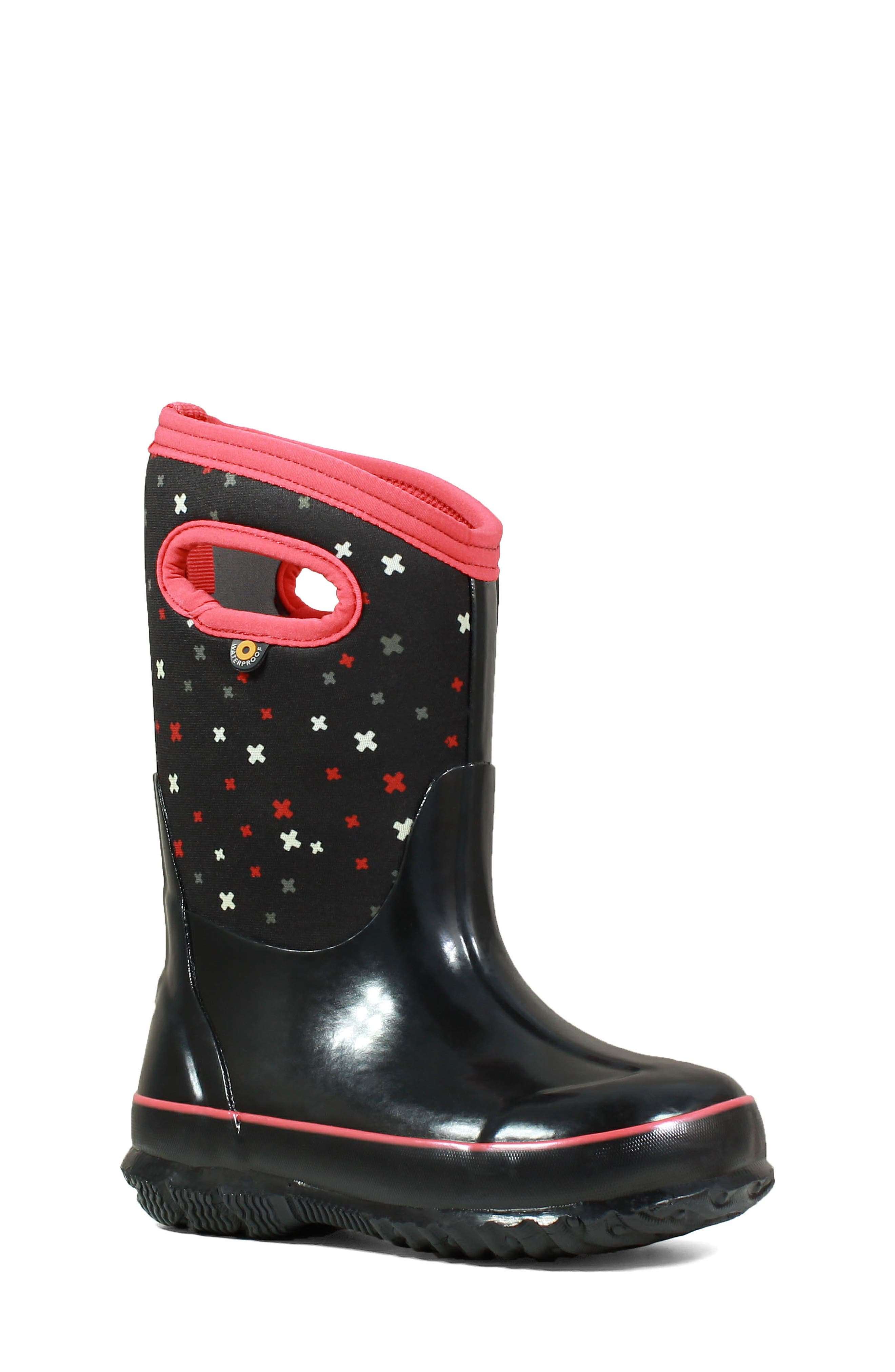Classic Print Insulated Waterproof Boot,                         Main,                         color, 009