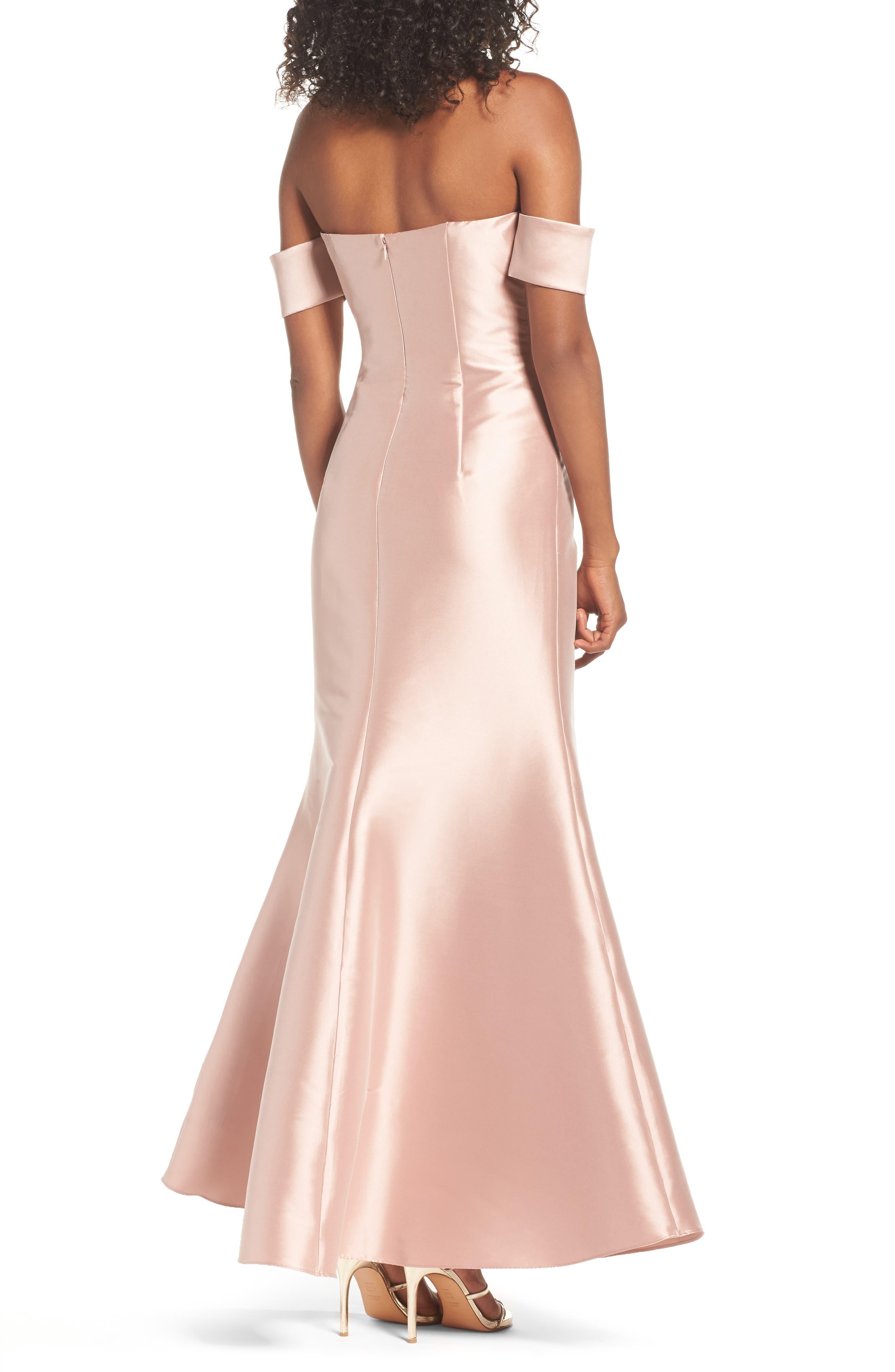 Noir Victoria Mermaid Gown,                             Alternate thumbnail 2, color,                             650