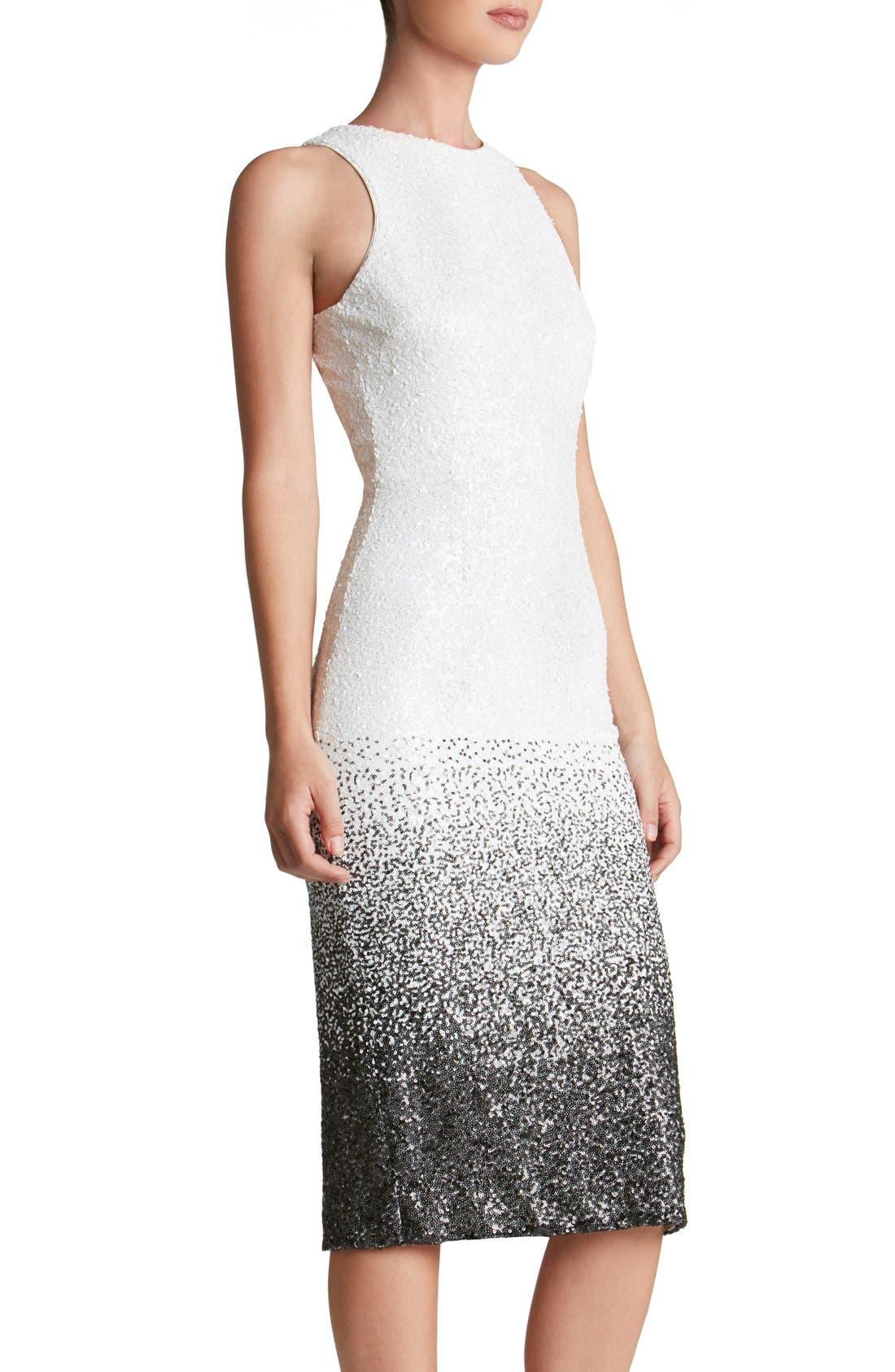 Shawn Sequin Midi Dress,                             Alternate thumbnail 4, color,                             121