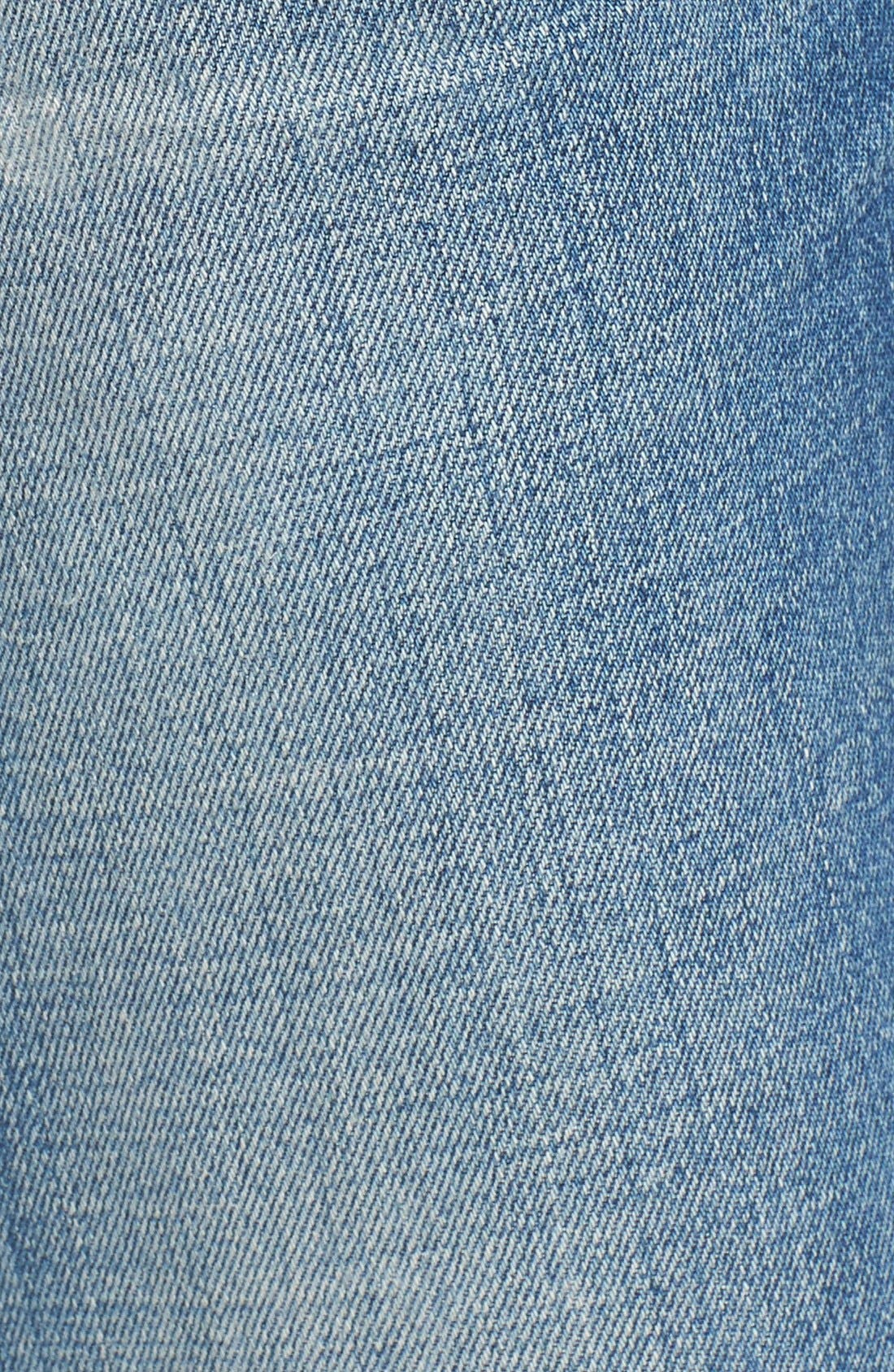Liya High Waist Slim Boyfriend Jeans,                             Alternate thumbnail 5, color,                             426
