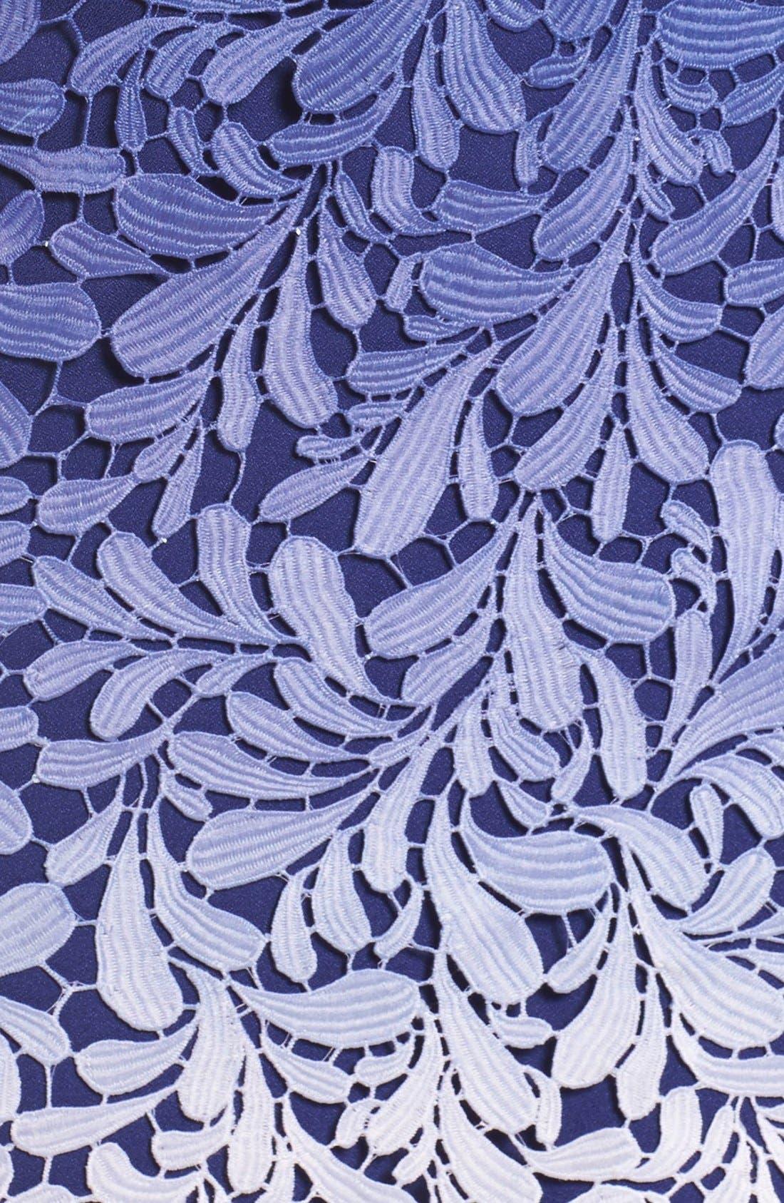Ombré Lace Sheath Dress,                             Alternate thumbnail 5, color,                             400