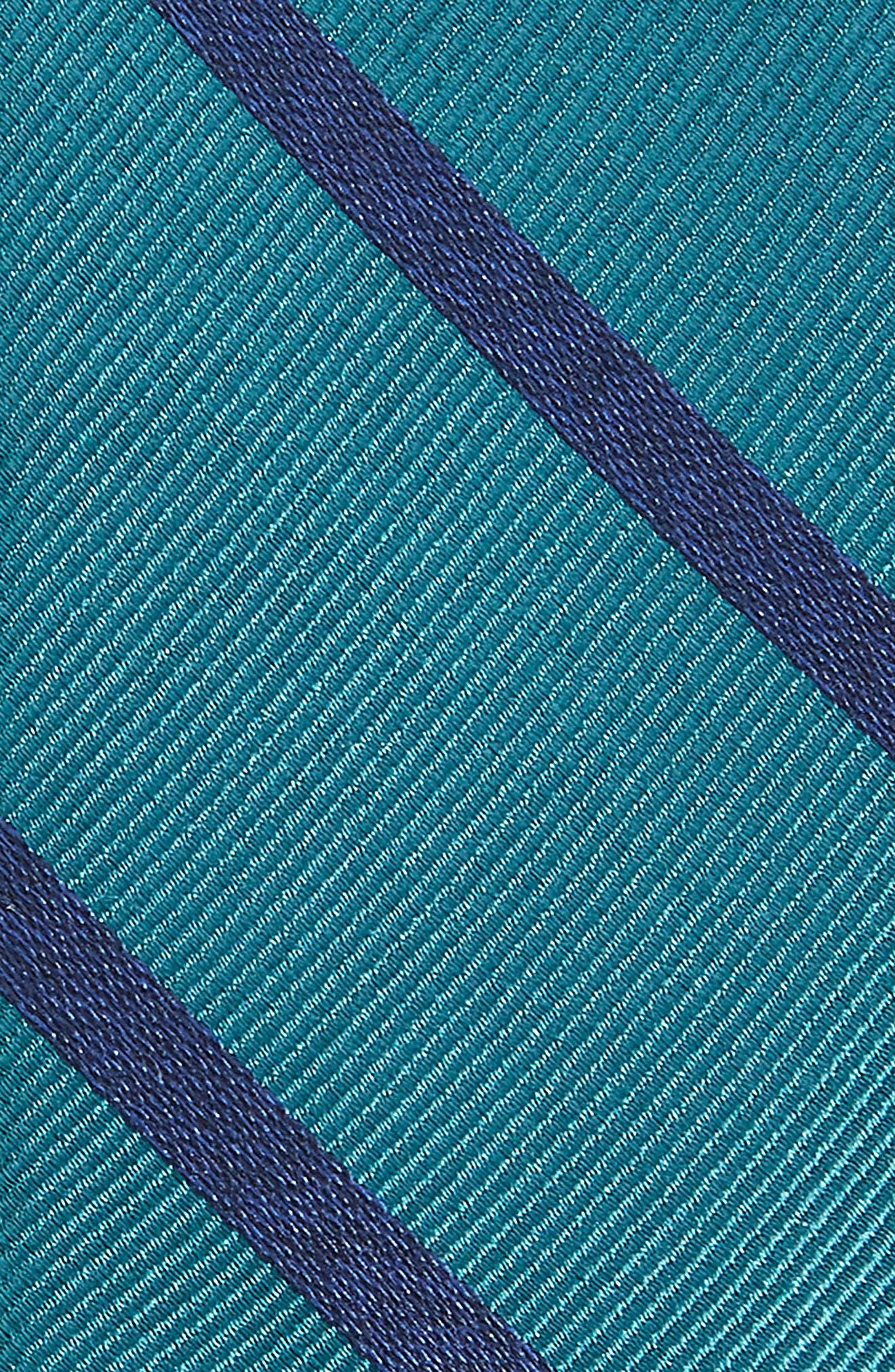 Wheelhouse Stripe Silk Skinny Tie,                             Alternate thumbnail 2, color,                             TEAL