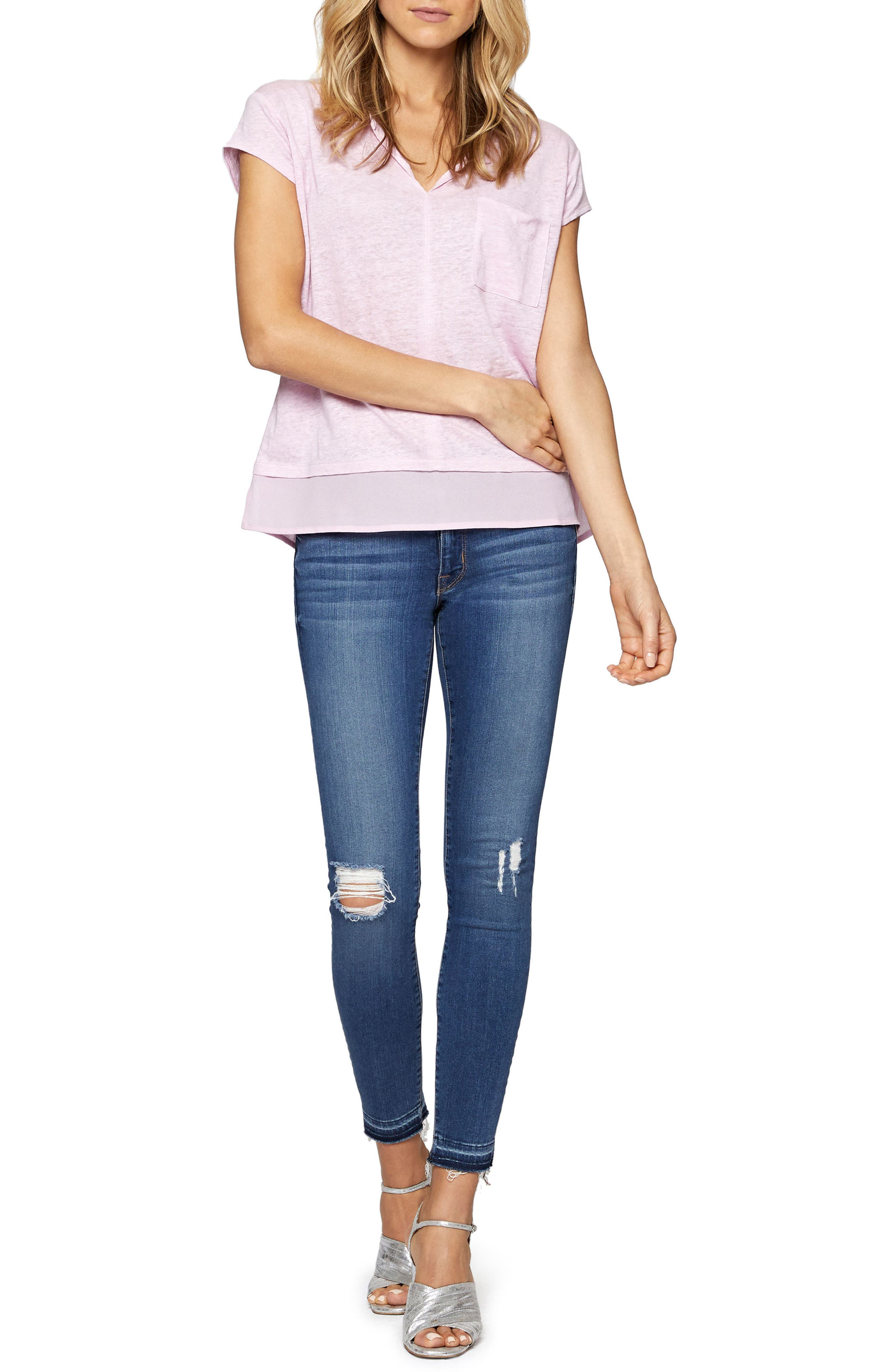 City Mix Layered Look Tee,                             Alternate thumbnail 55, color,