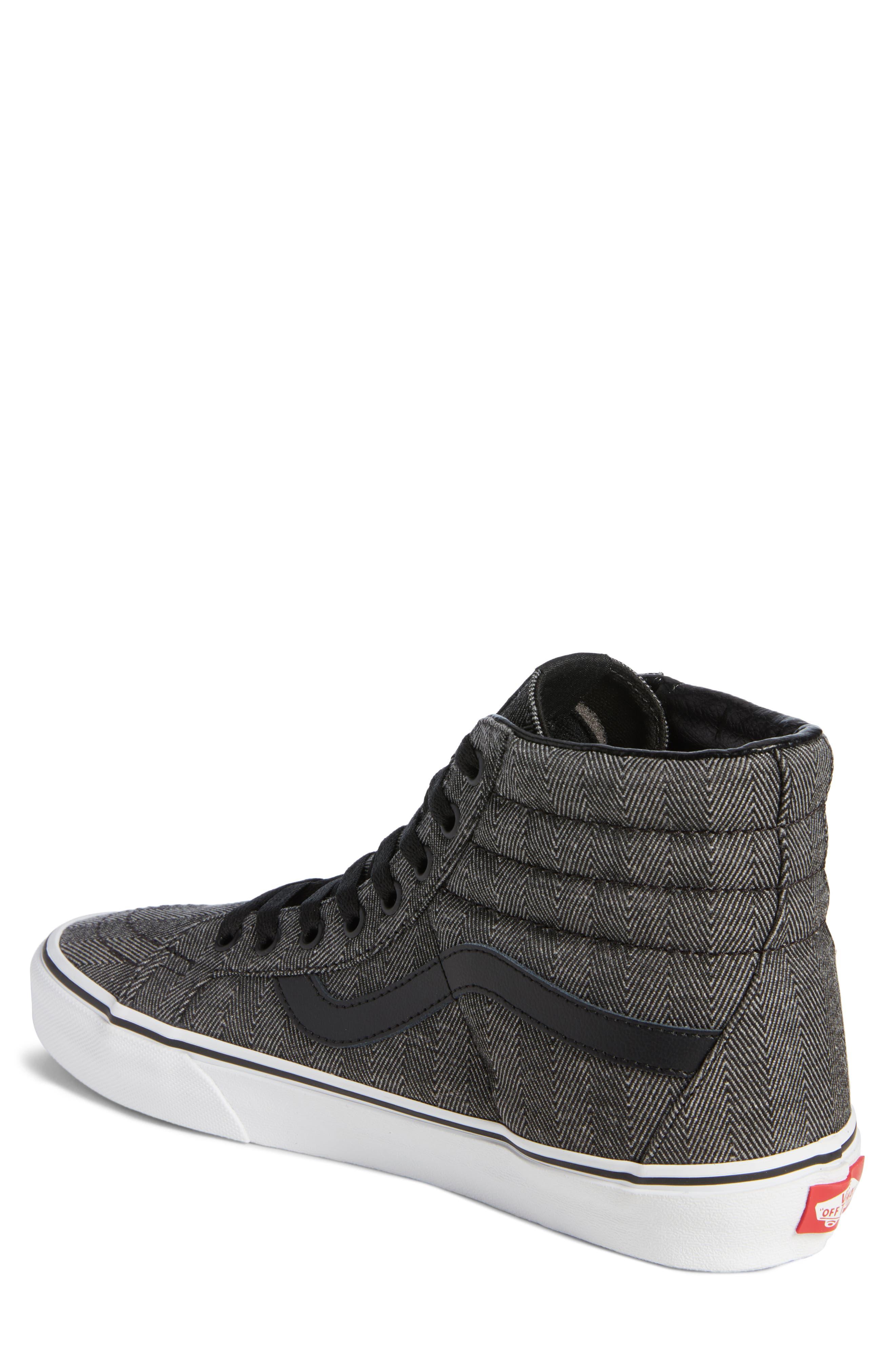 SK8-Hi Reissue High Top Sneaker,                             Alternate thumbnail 2, color,                             BLACK/ TRUE WHITE