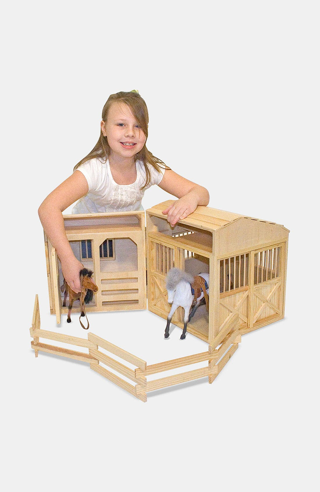 MELISSA & DOUG Folding Horse Stable, Main, color, VARIOUS