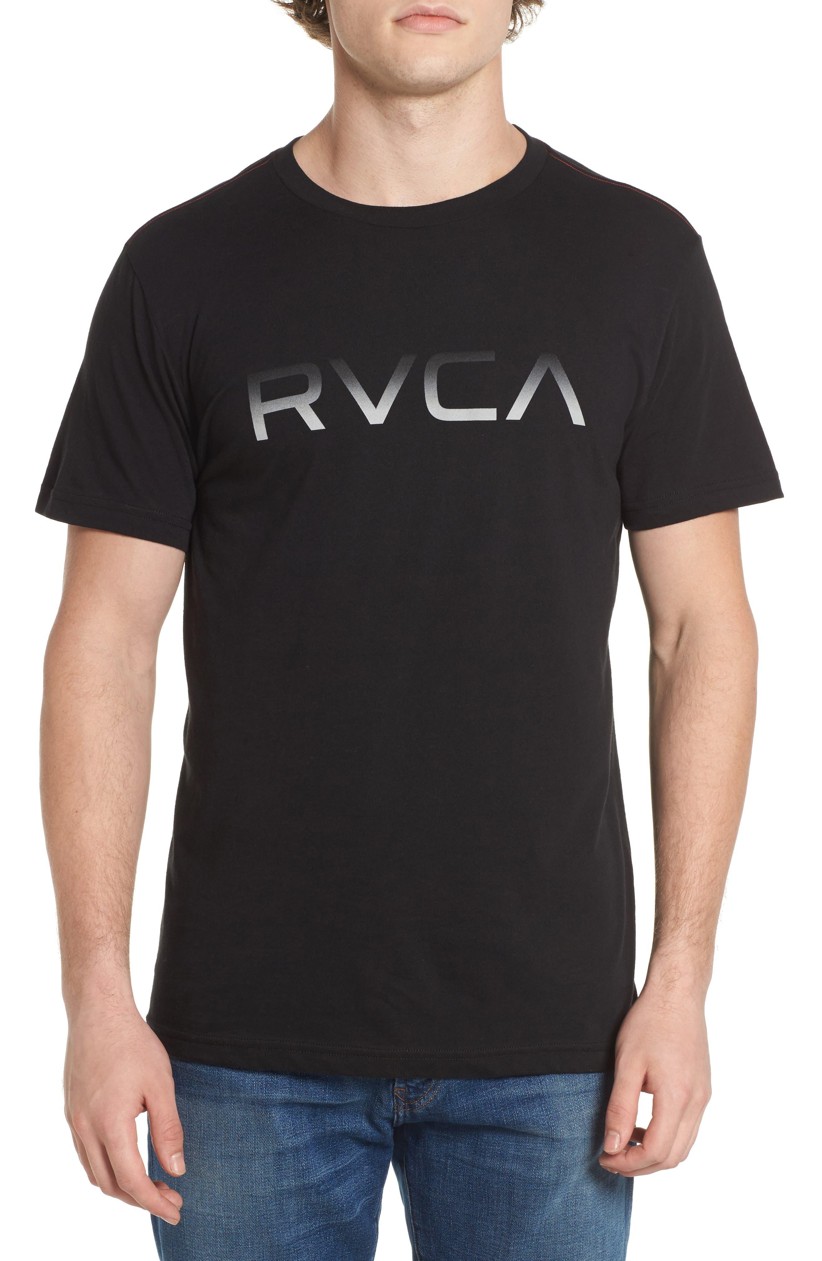 Big RVCA Gradient Logo T-Shirt,                         Main,                         color,